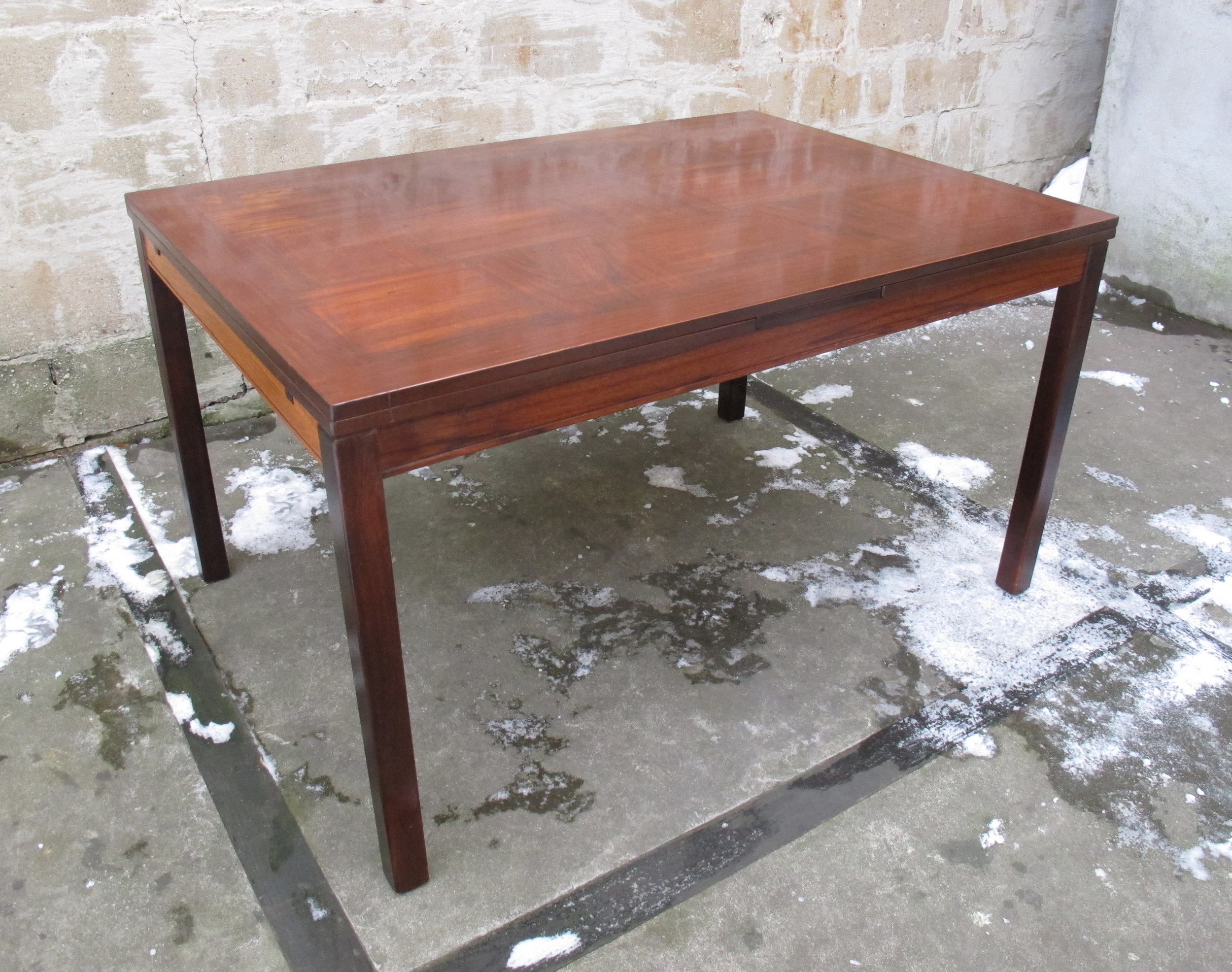 NORWEGIAN ROSEWOOD EXTENSION DINING TABLE by HEGGEN