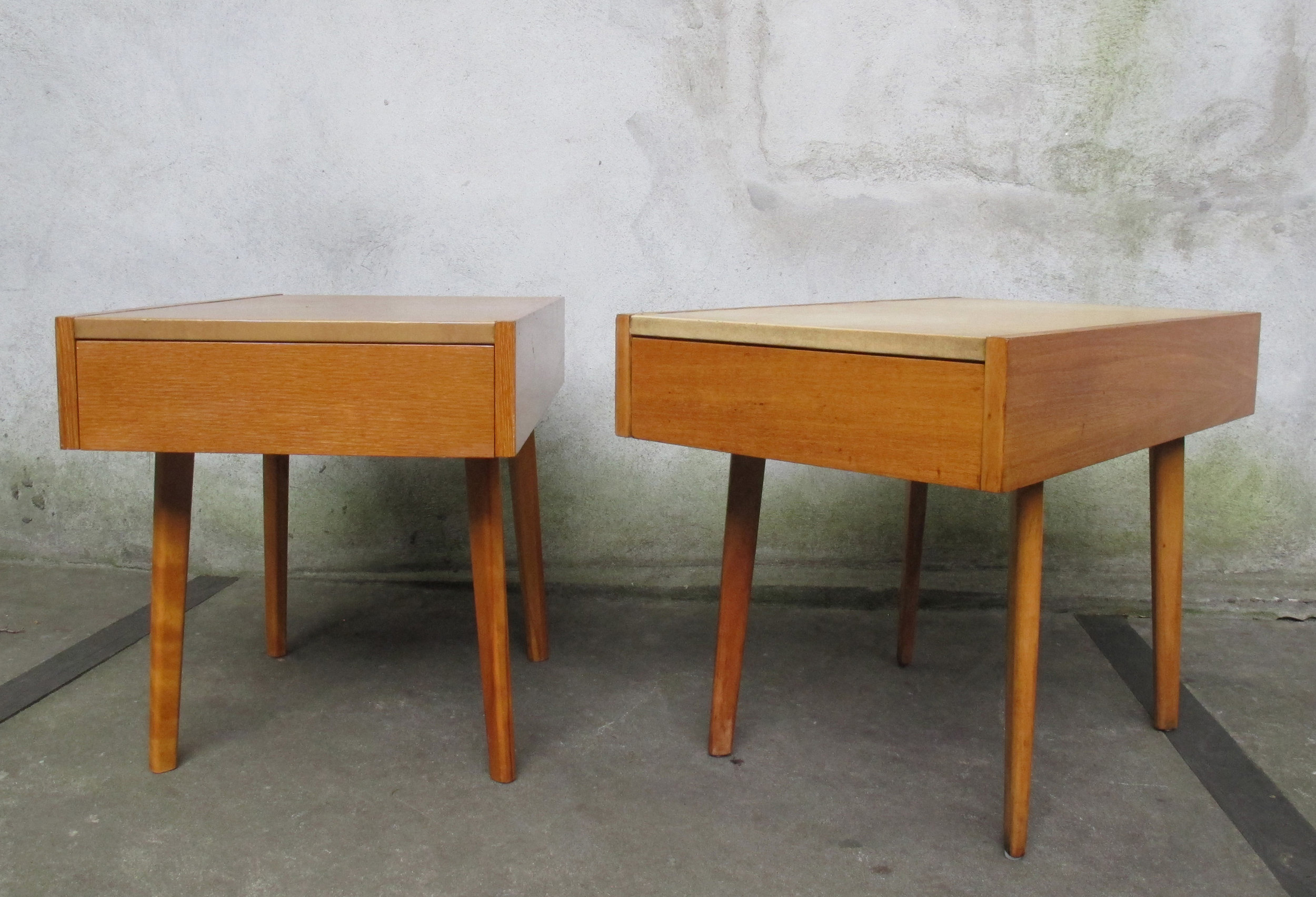 PAIR OF MID CENTURY GEROGE NELSON SIDE TABLES BY HERMAN MILLER
