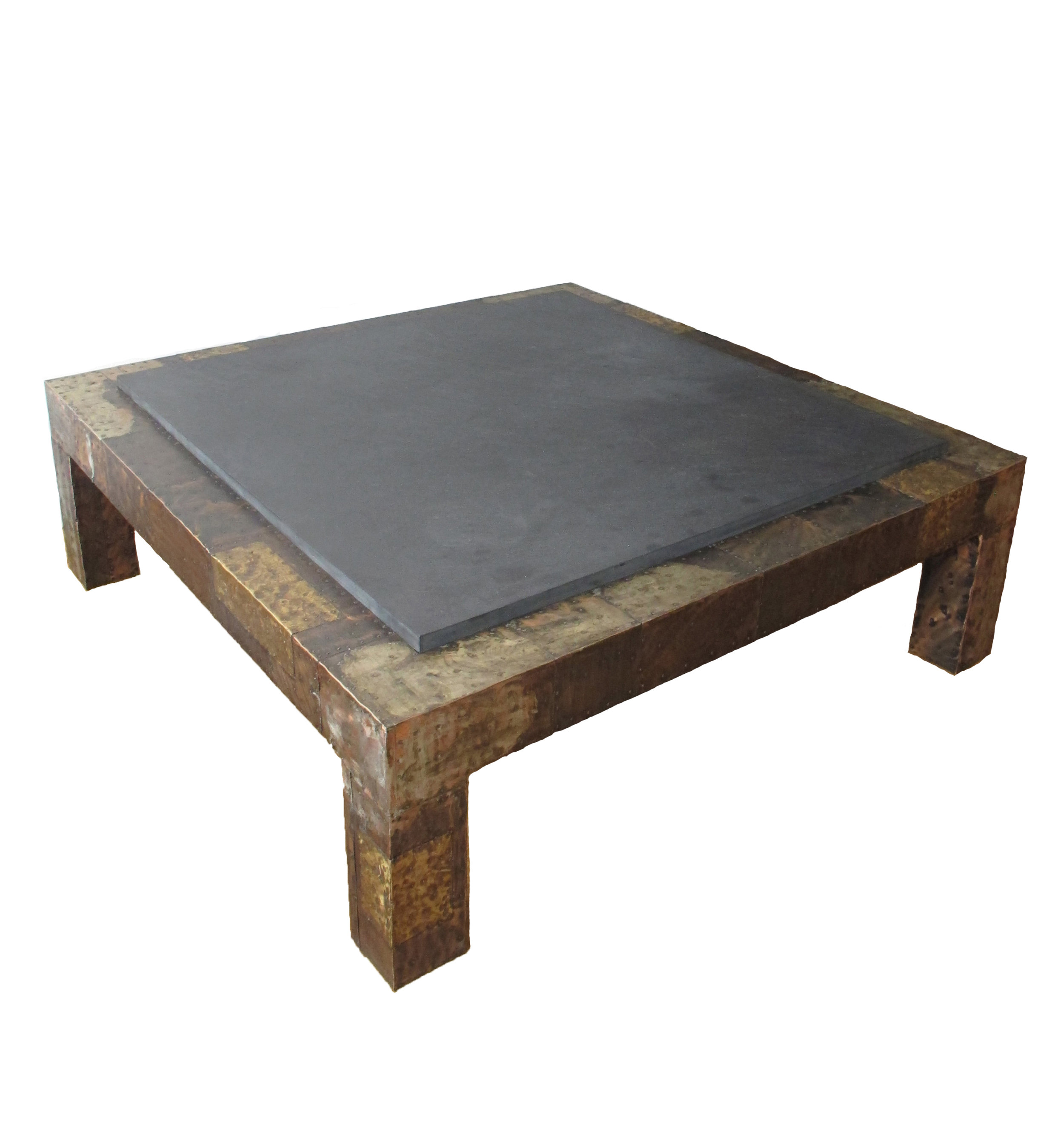 MID CENTURY BRUTALIST STYLE COFFEE TABLE BY PAUL EVANS FOR DIRECTIONAL