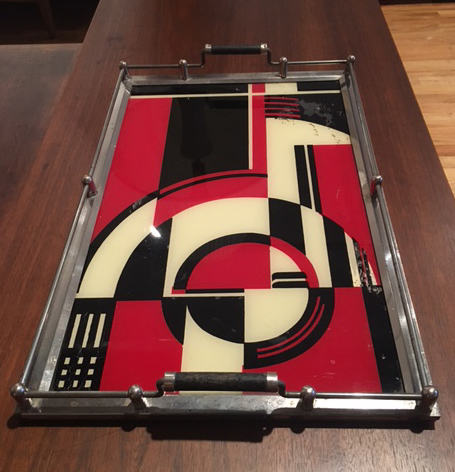 RARE ART DECO COCKTAIL SERVING TRAY