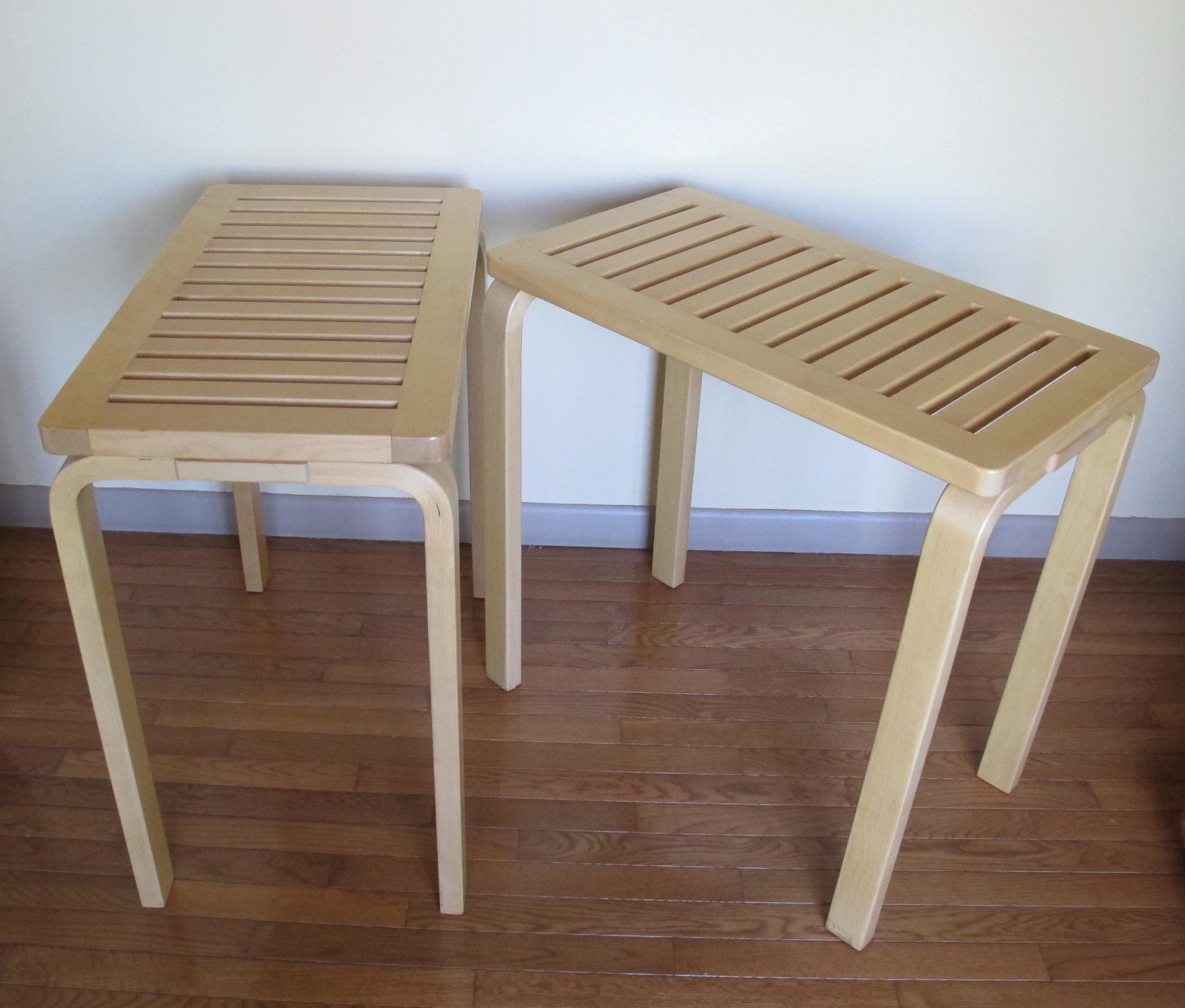 PAIR OF ALVAR AALTO CONSOLE TABLES FOR ARTEK
