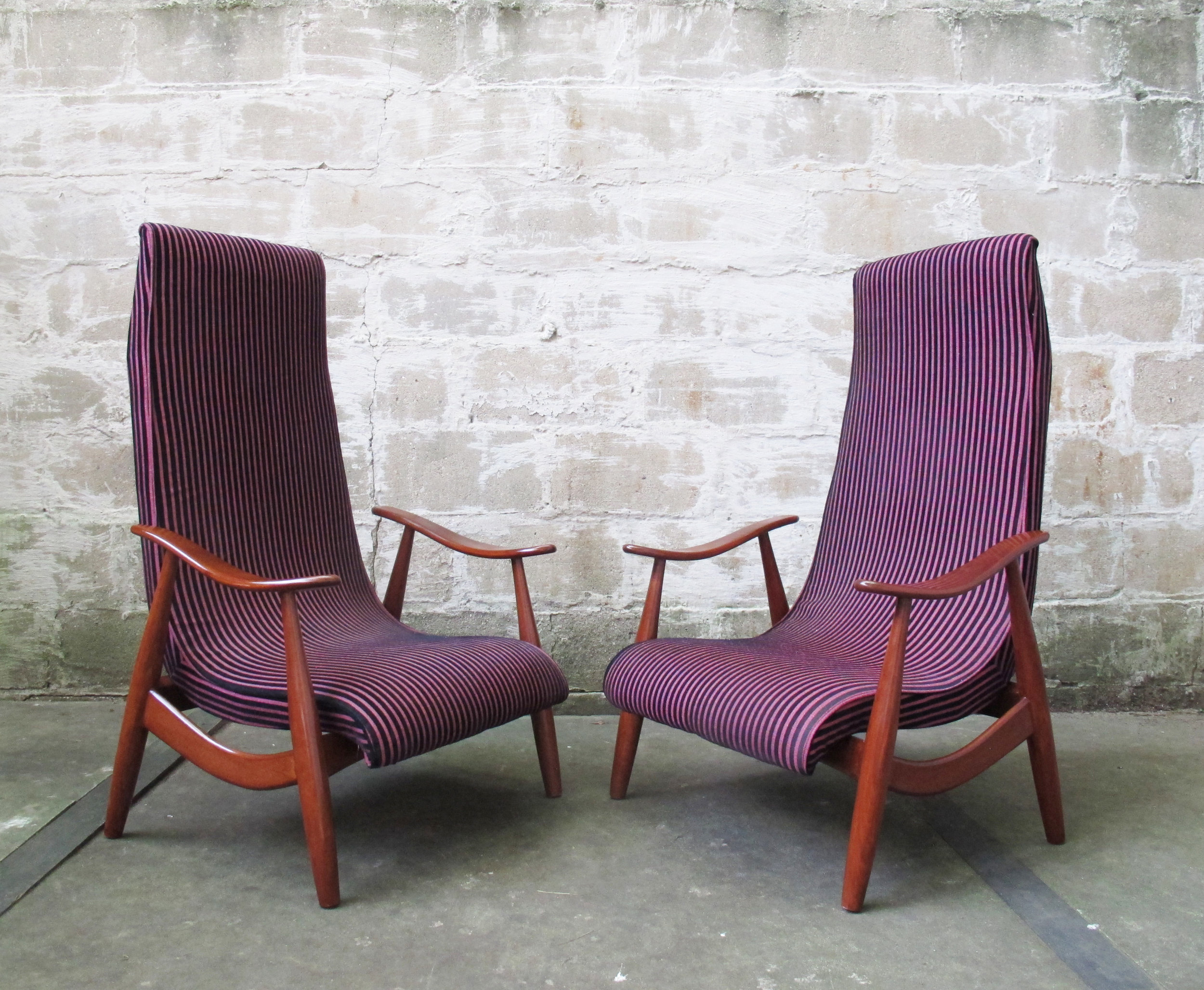 MID CENTURY PEARSALL STYLE LOUNGE CHAIRS