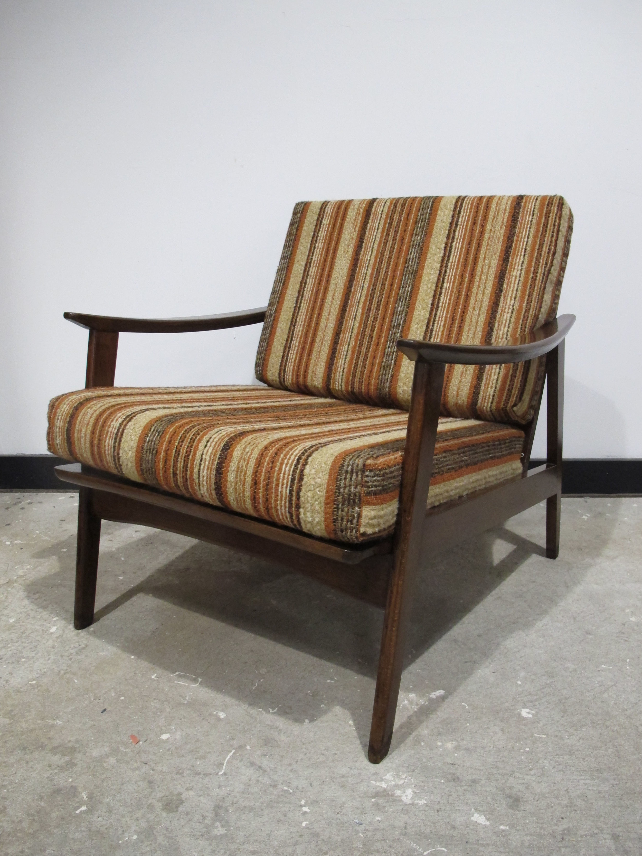 DANISH MODERN SPINDLE BACK ARMCHAIR
