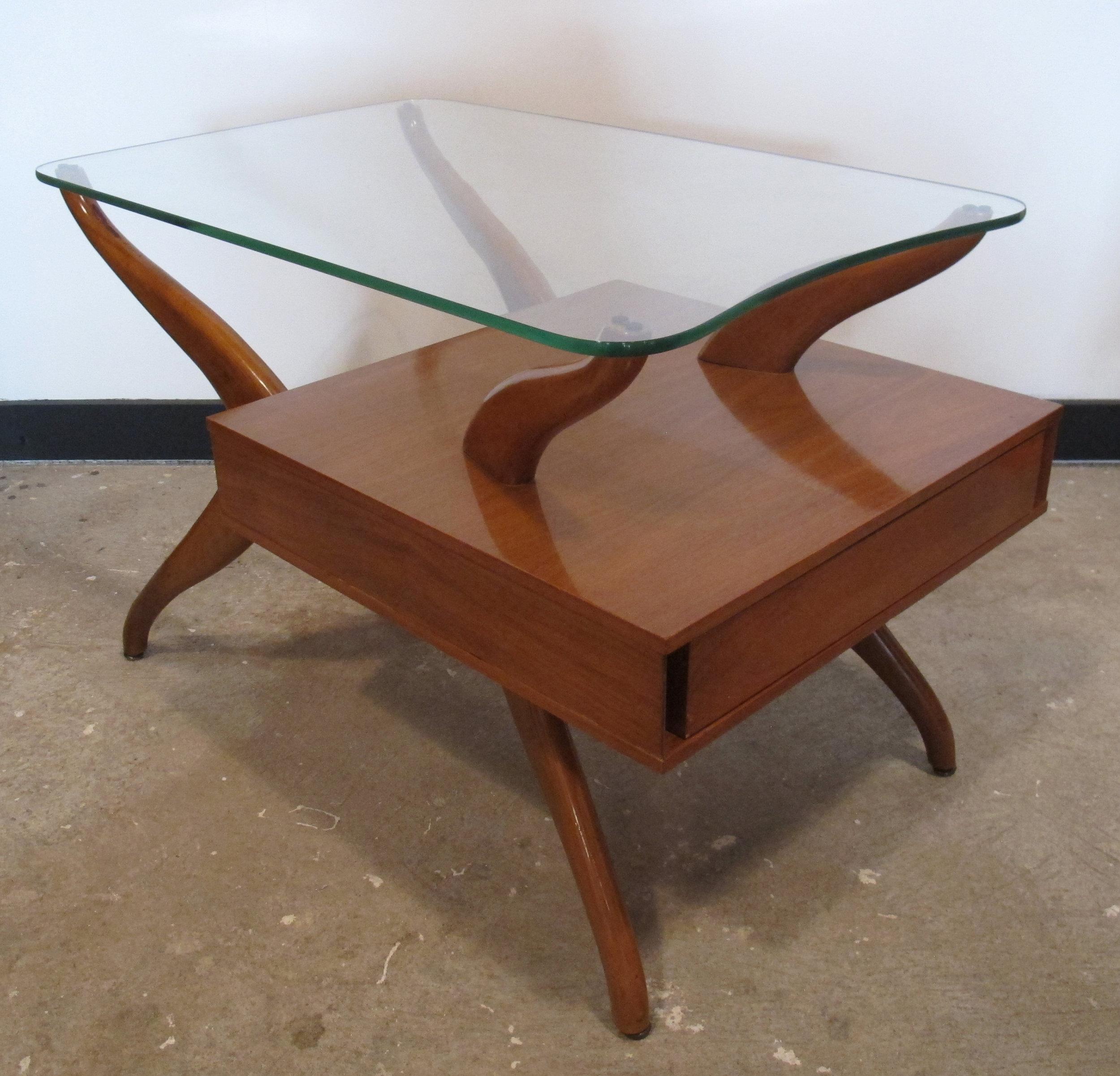 MID CENTURY VLADIMIR KAGAN STYLE SIDE TABLE