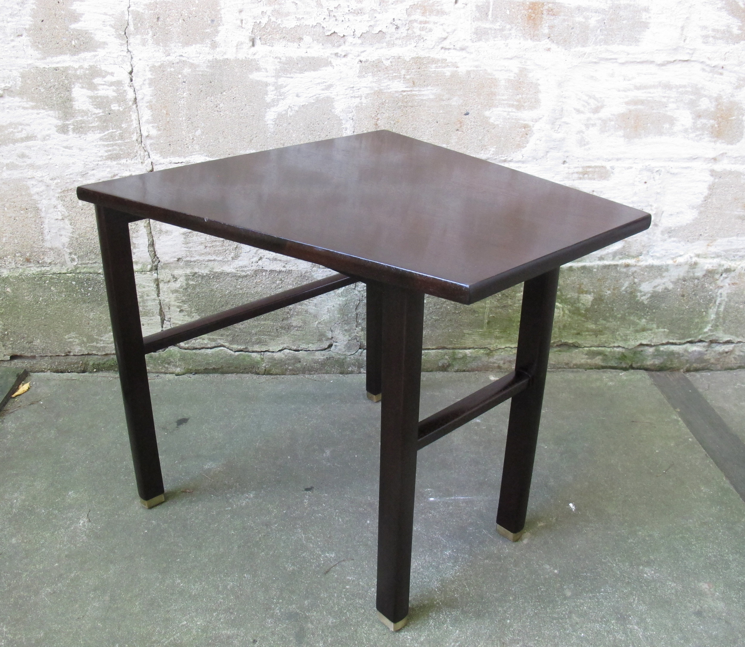 MID CENTURY EDWARD WORMLEY TRAPEZOID SIDE TABLE BY DUNBAR