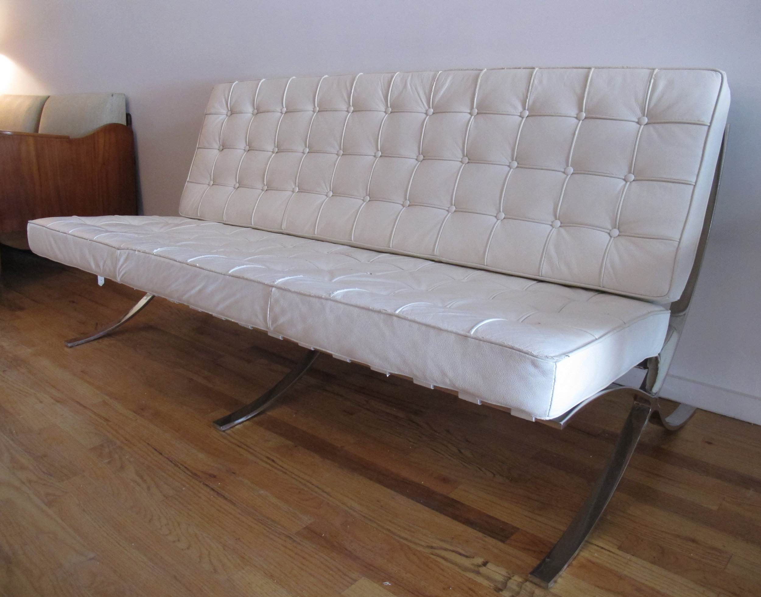 MID CENTURY BARCELONA STYLE SOFA AFTER MIES VAN DER ROHE