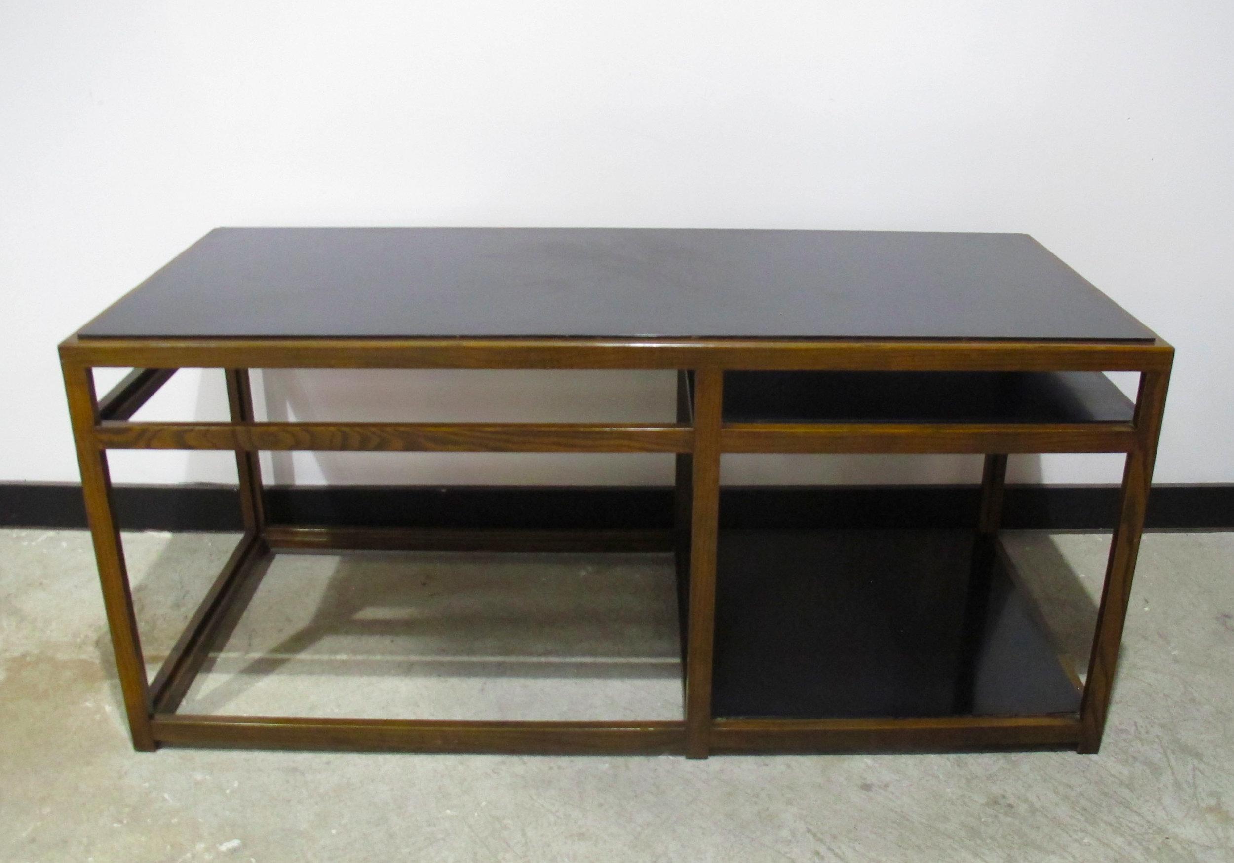 EDWARD WORMLEY THREE-TIER CONSOLE TABLE BY DUNBAR
