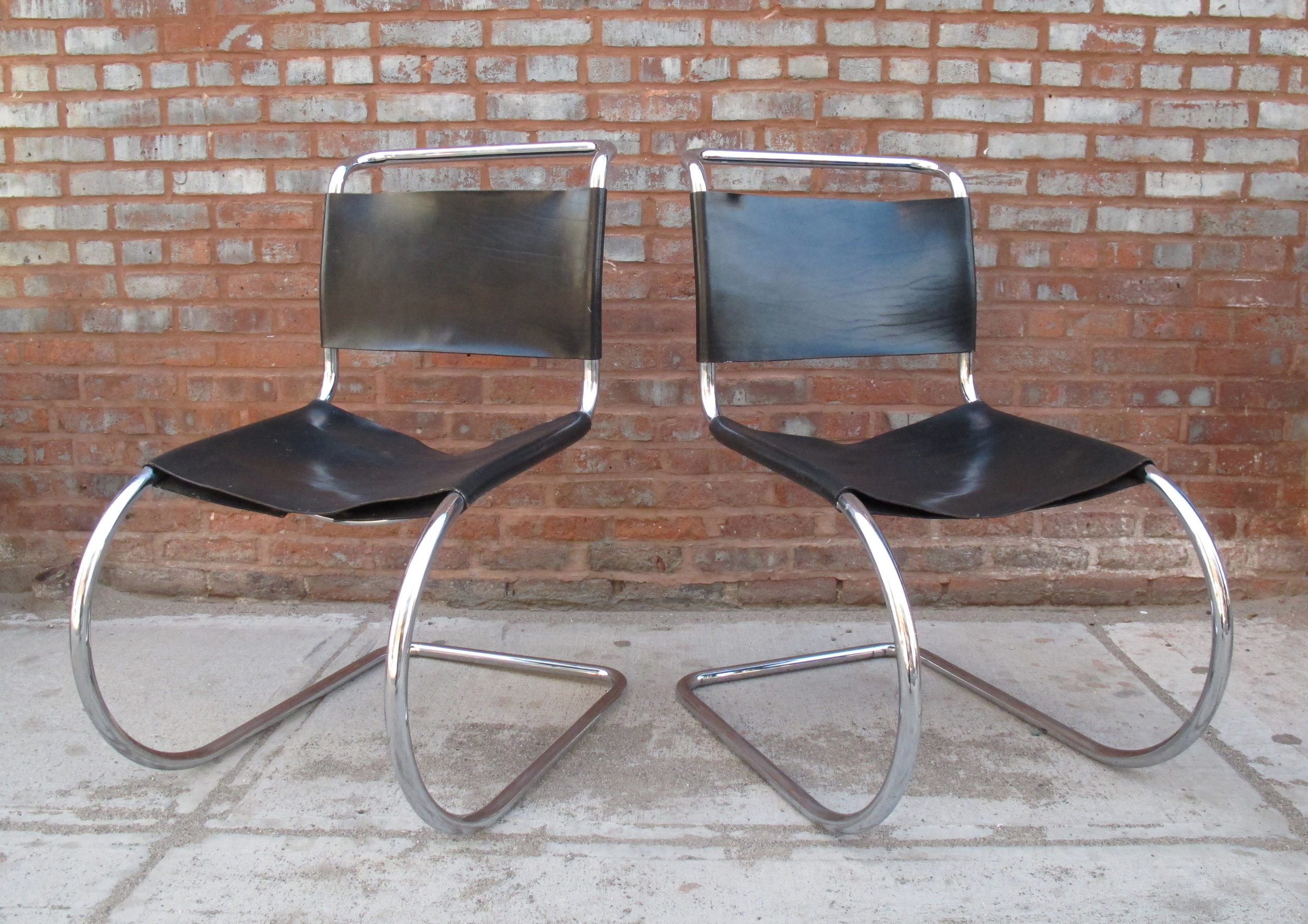PAIR OF MIES VAN DER ROHE MR SIDE CHAIRS