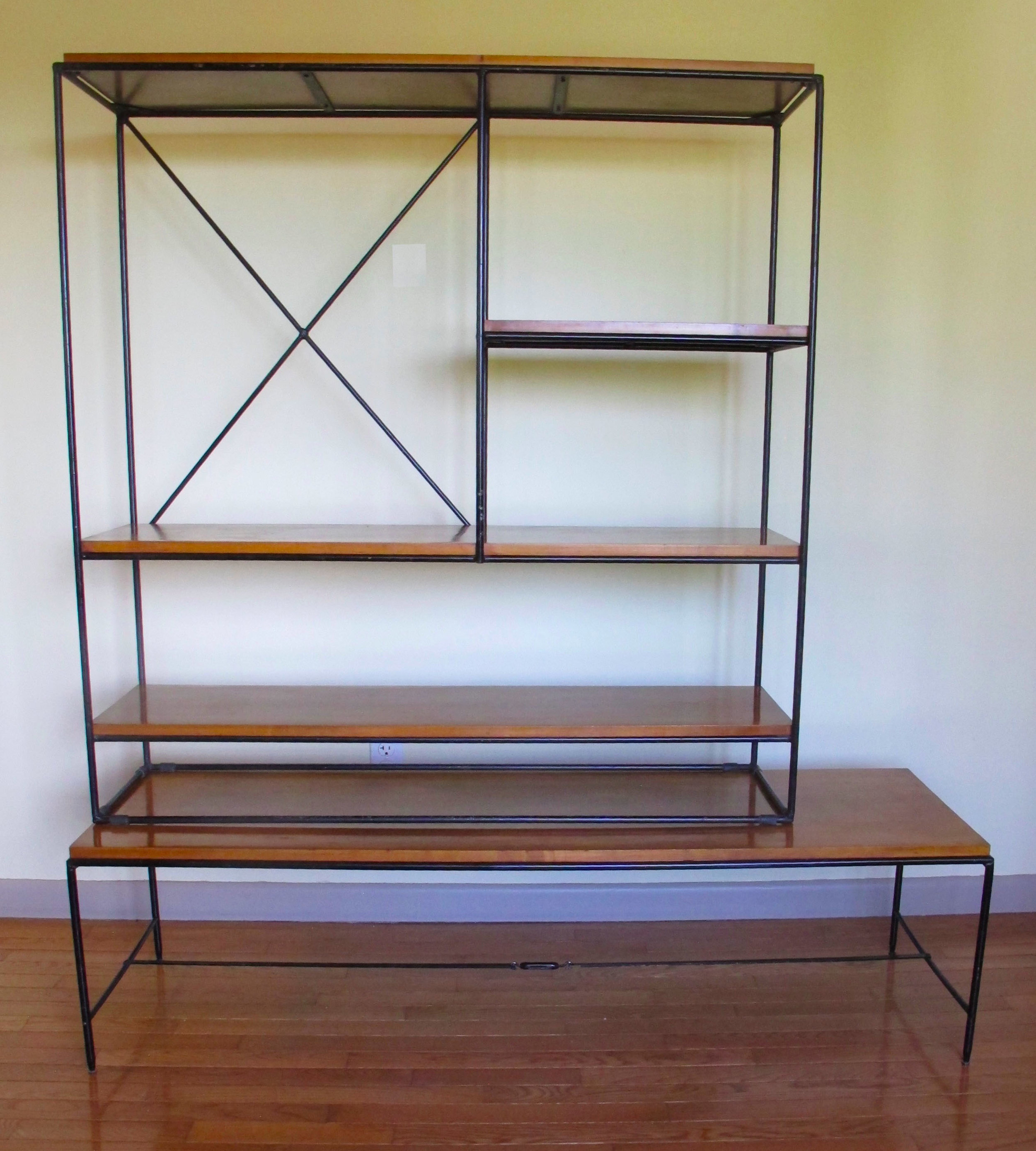 MID CENTURY PAUL MCCOBB PLANNER GROUP TWO PIECE SHELVING UNIT