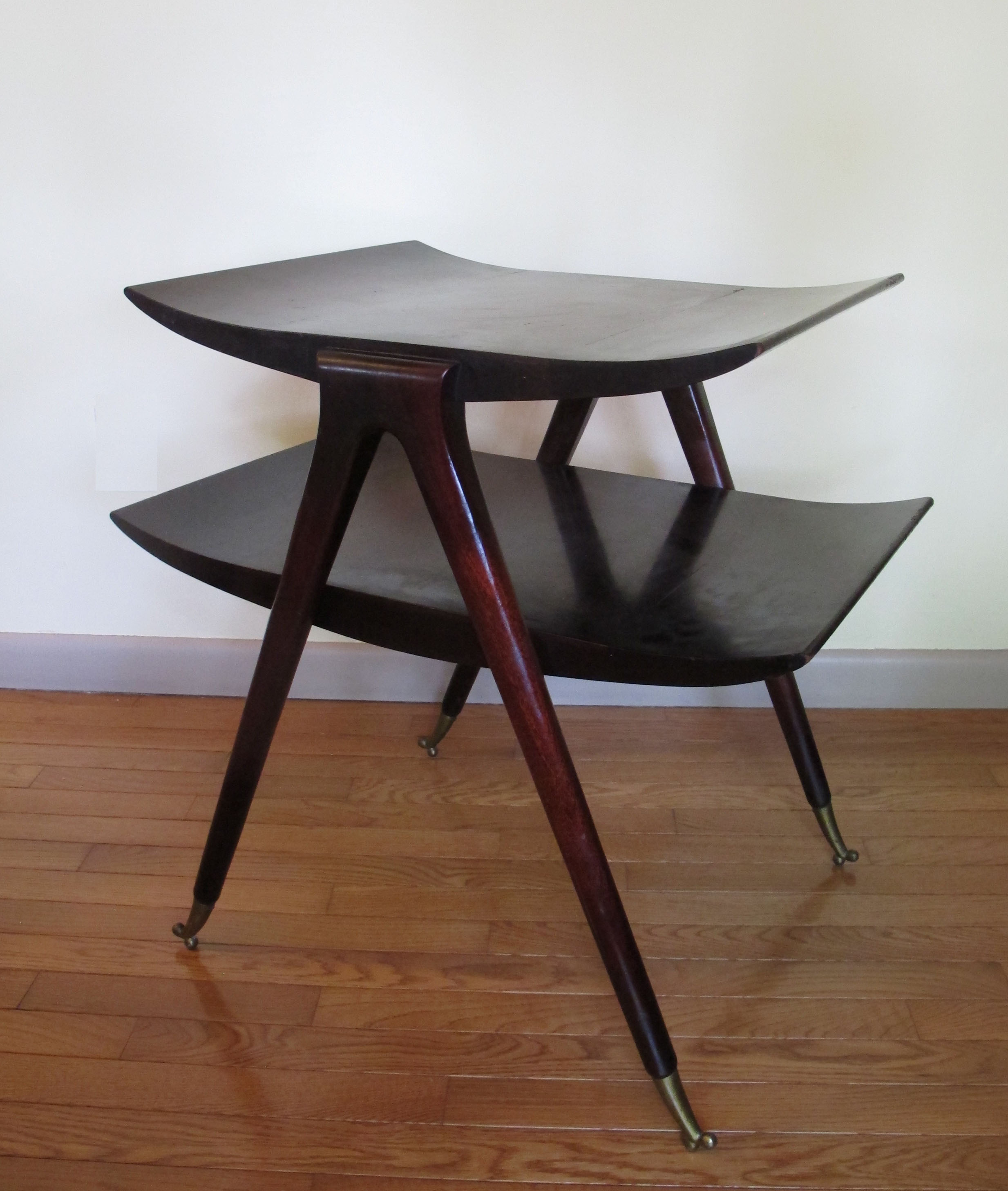 GIO PONTI STYLE TWO-TIER SIDE TABLE
