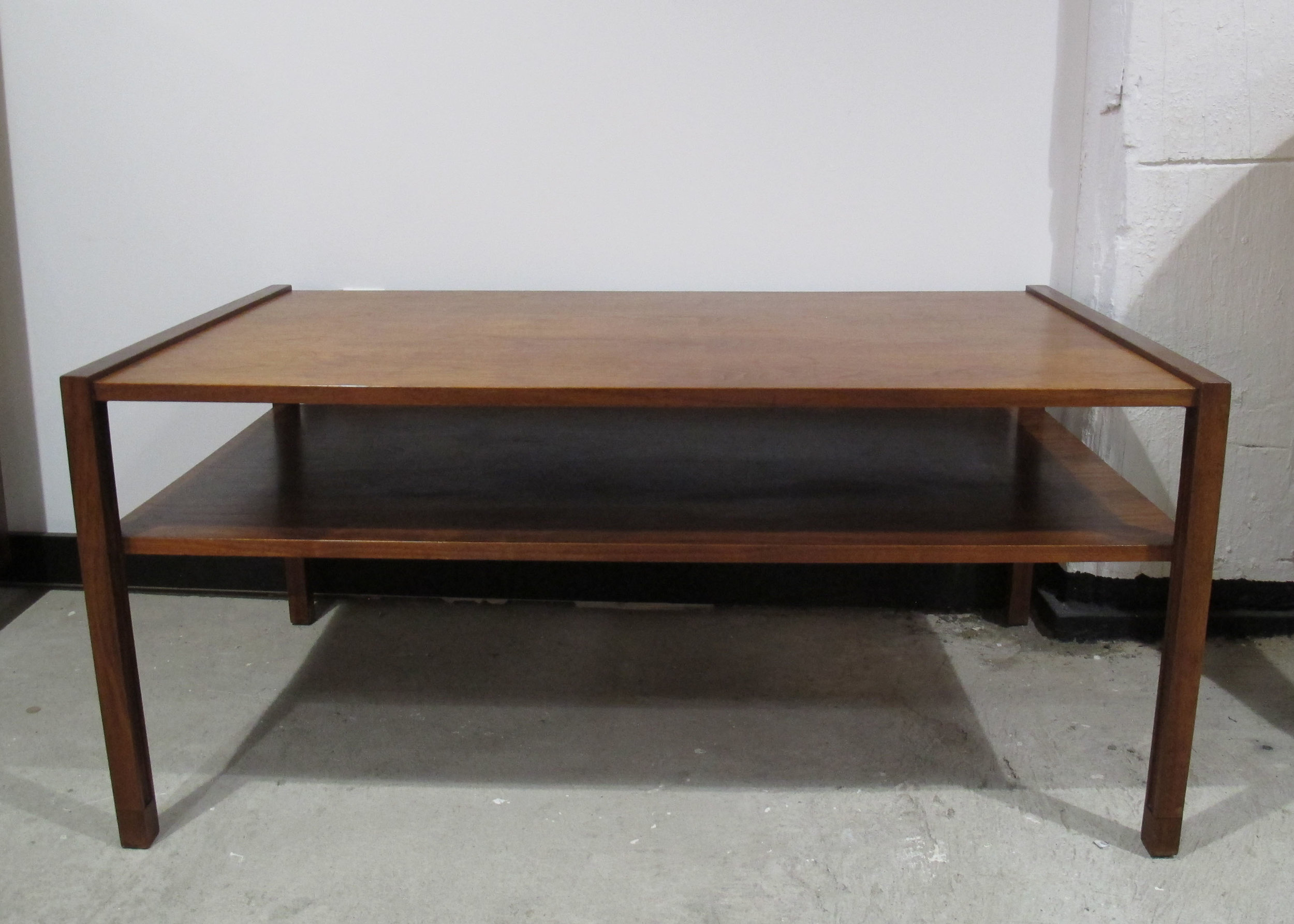 DUNBAR MID CENTURY TWO-TIER CONSOLE TABLE