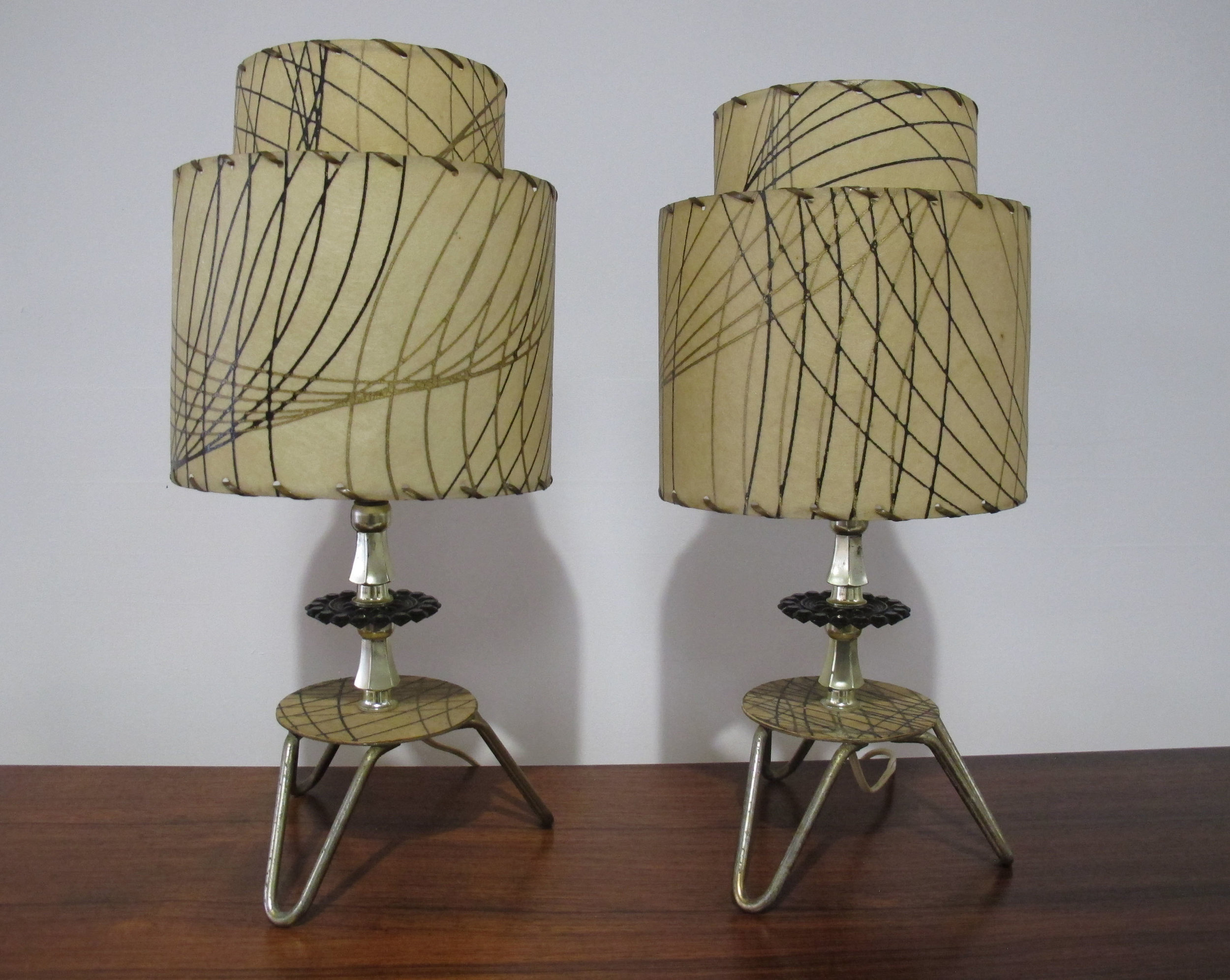 PAIR OF 1950S ATOMIC TABLE LAMPS