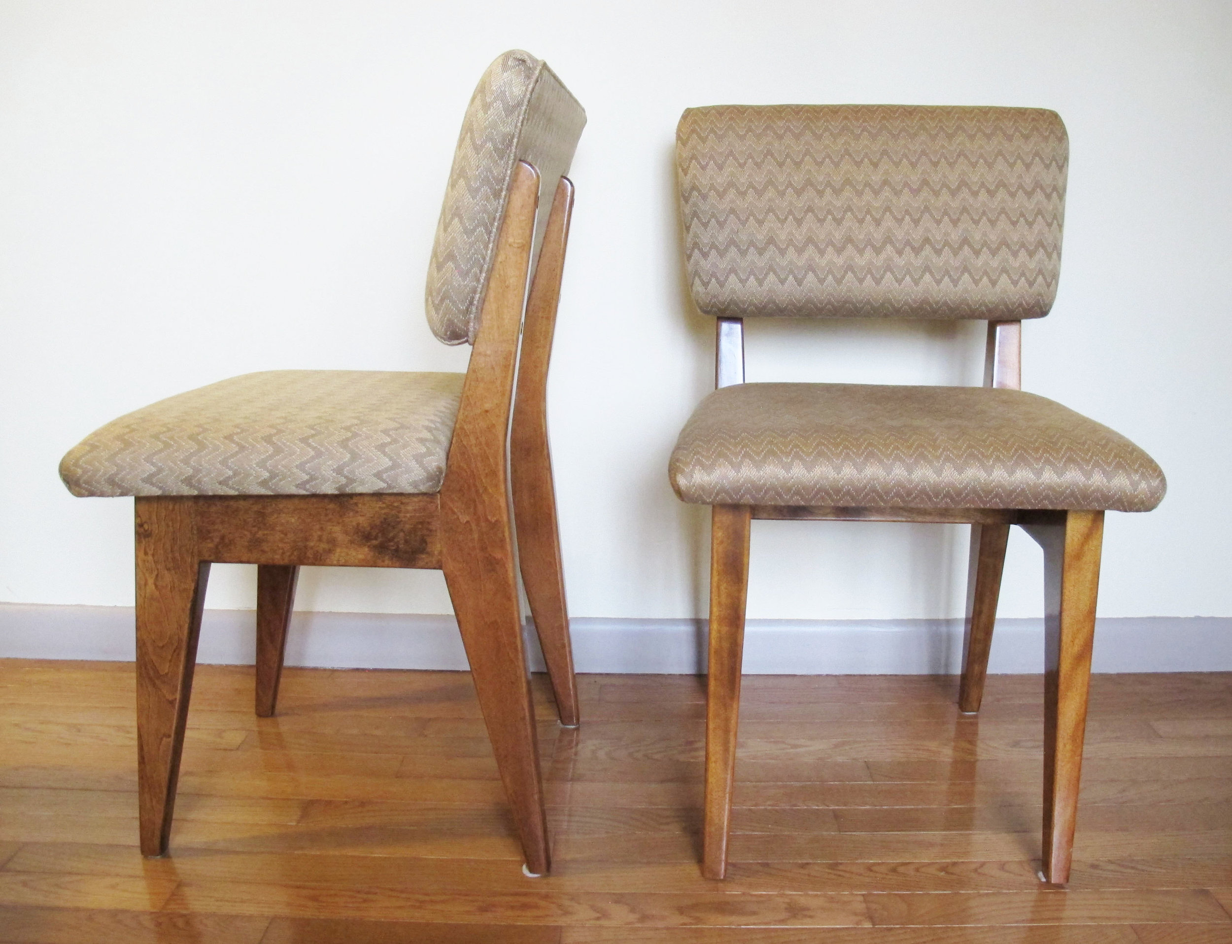 PAIR OF EDWARD DURELL STONE STYLE SIDE CHAIRS