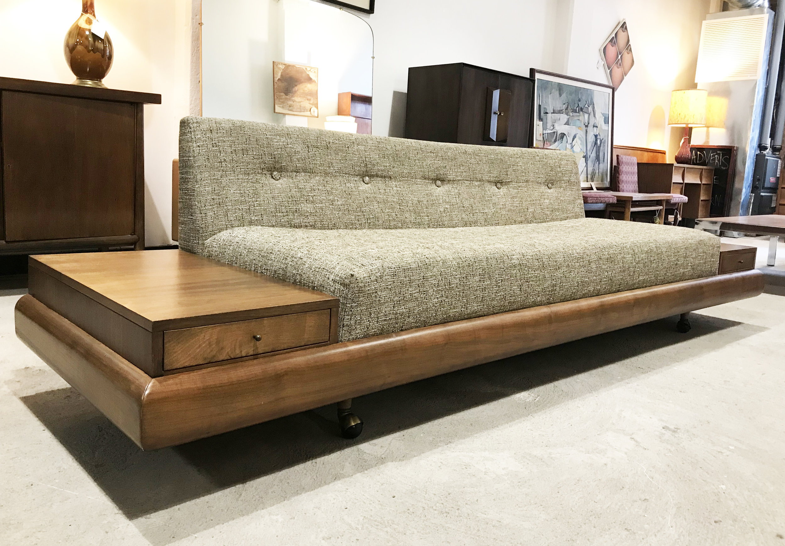 ADRIAN PEARSALL SOFA WITH END TABLES BY CRAFT ASSOACIATES MODEL 1709-S