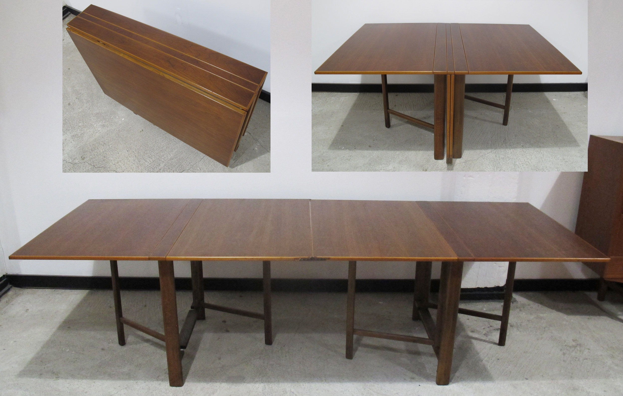 BRUNO MATHSSON STYLE MARIA GATE LEG TEAK TABLE