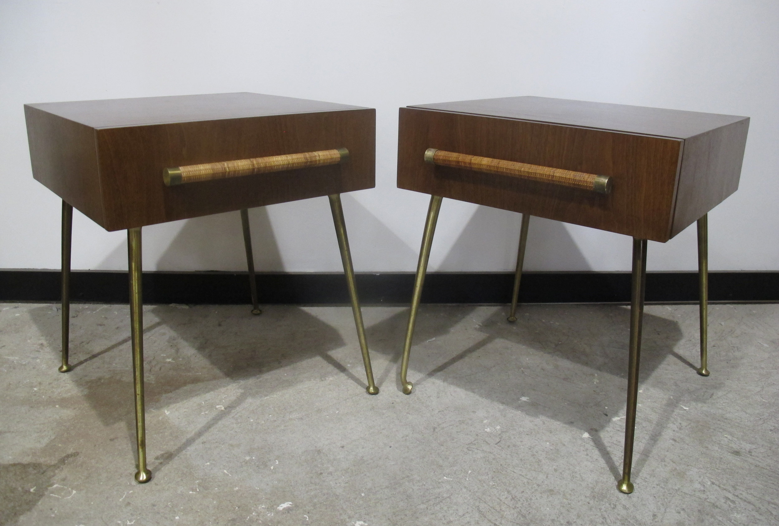 PAIR OF ROBSJOHN GIBBINGS NIGHTSTANDS FOR WIDDICOMB