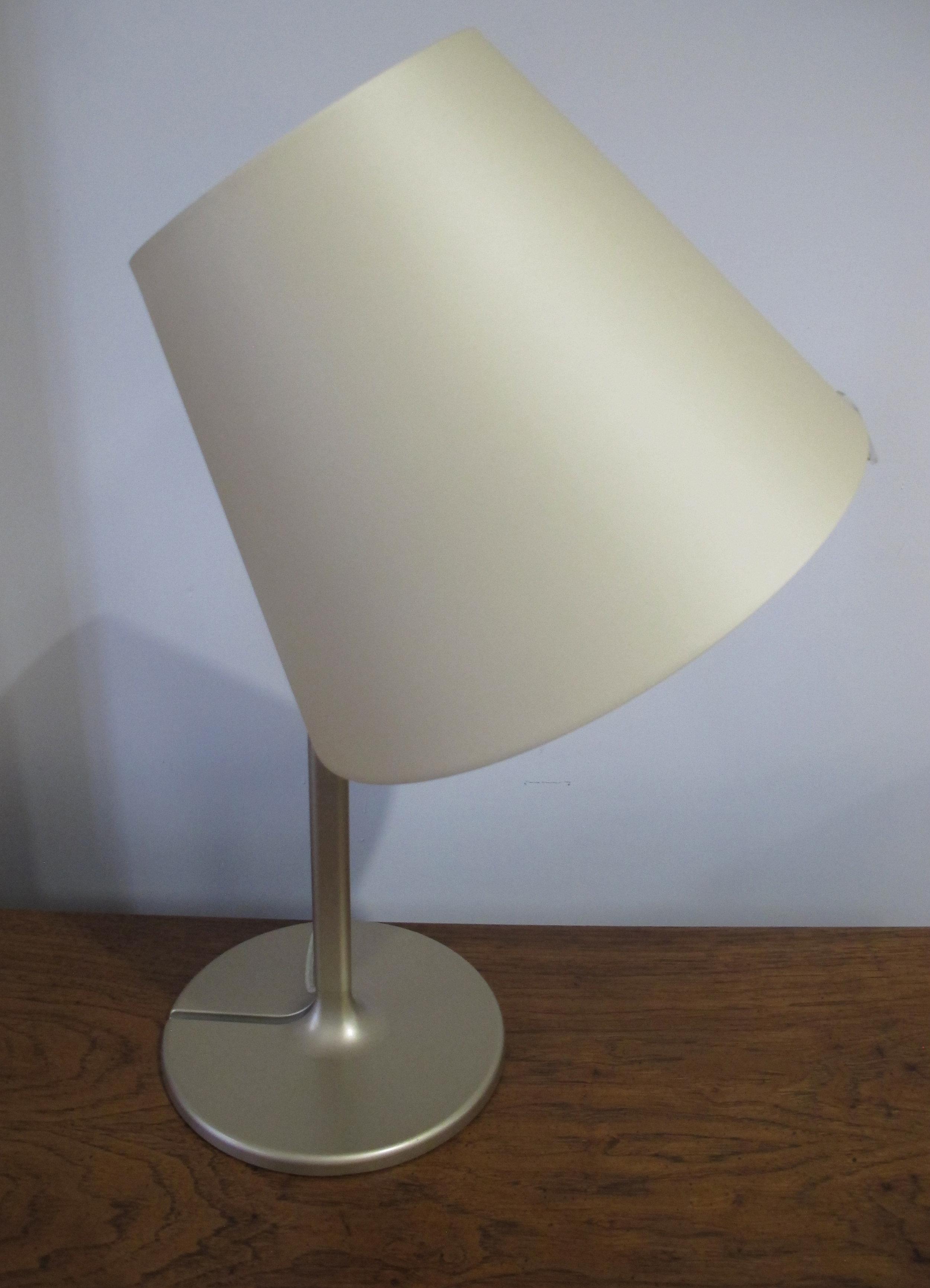 ITALIAN MODERN ARTEMIDE MELAMPO BRONZE ECRU TABLE LAMP BY ADRIEN GARDERE