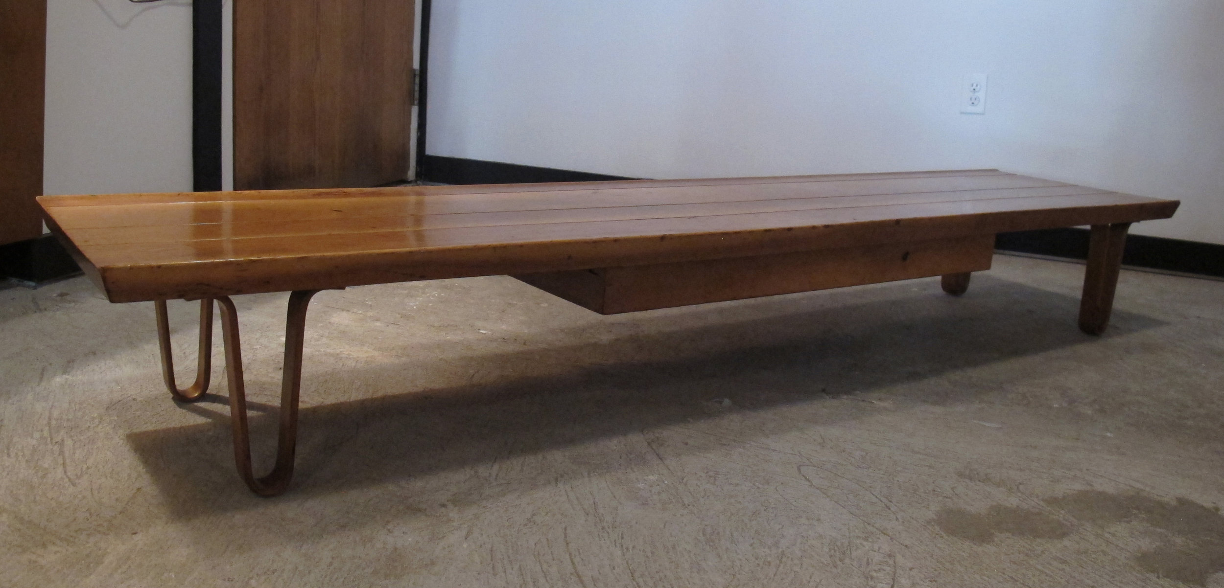EDWARD WORMLEY LONG JOHN WALNUT COFFEE TABLE BY DUNBAR