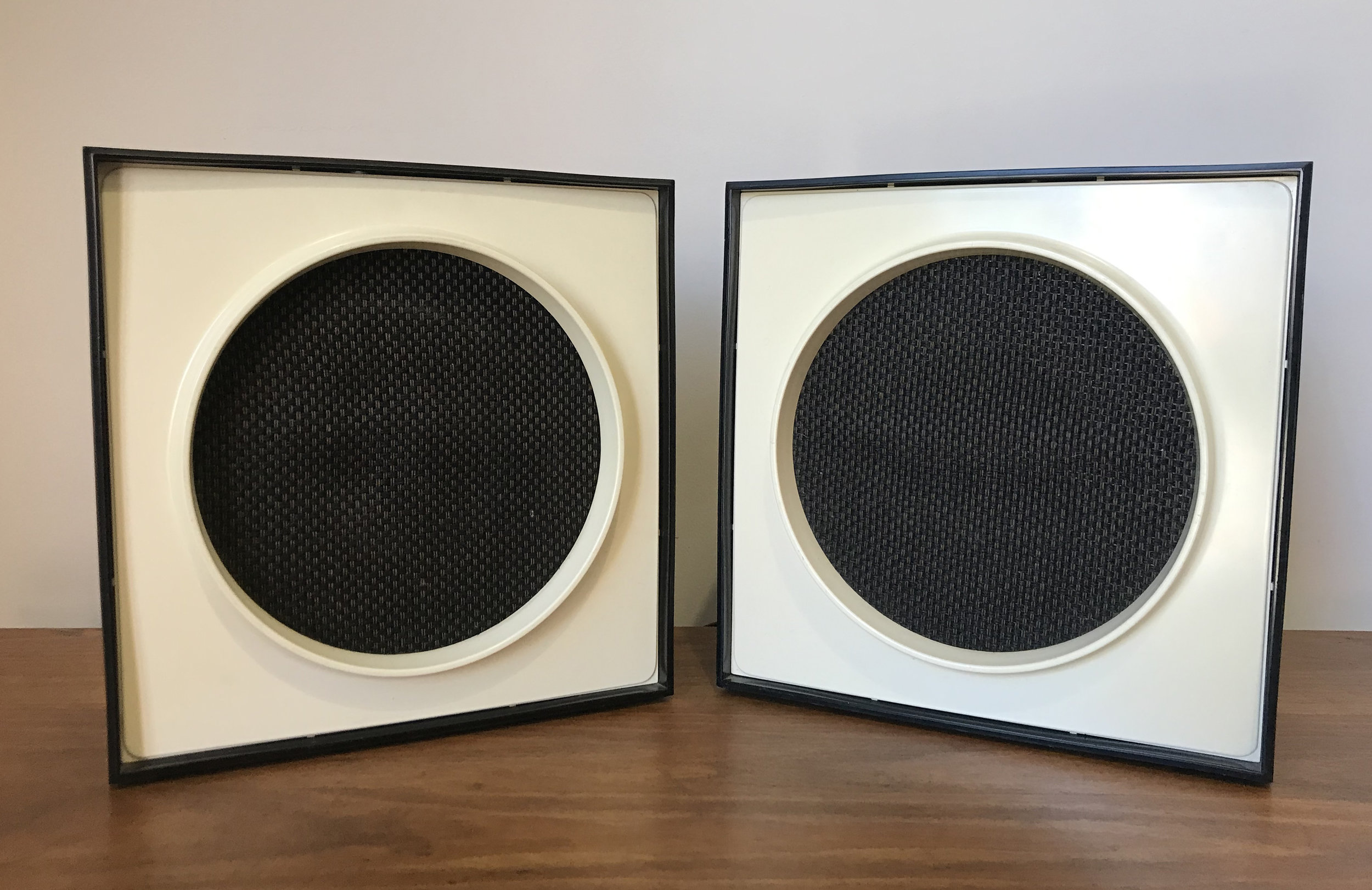 MID CENTURY MOD SPACE AGE DESK SPEAKERS