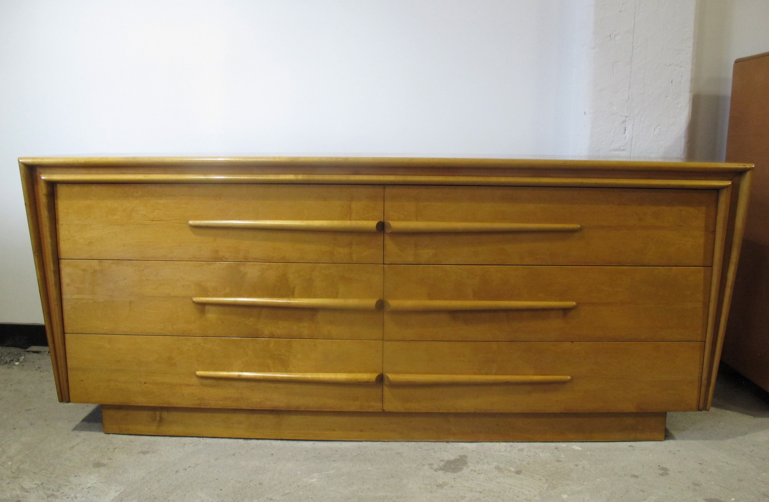 MID CENTURY MAPLE LONG DRESSER BY EDMOND SPENCE