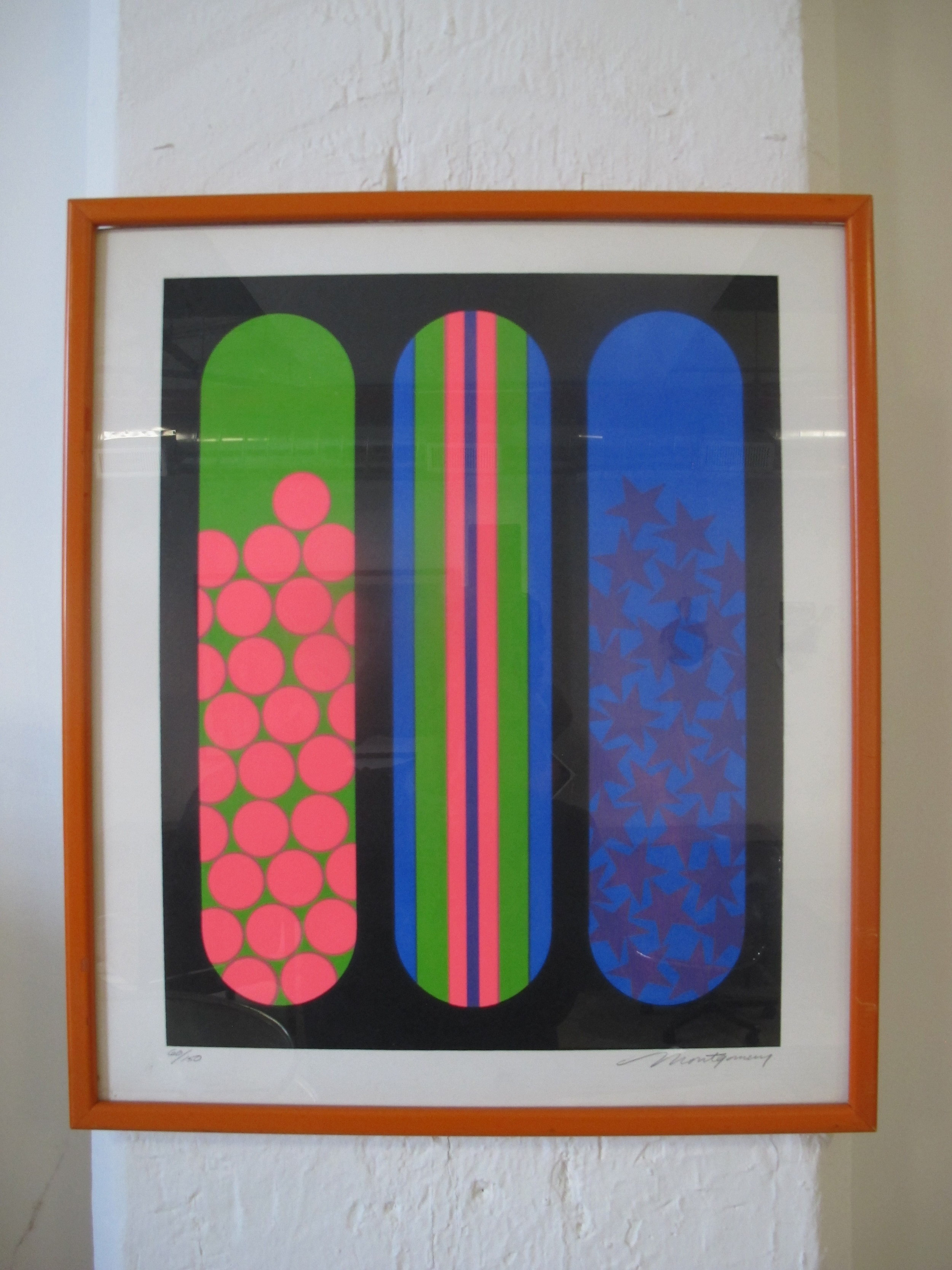 LIMITED EDITION MID CENTURY GEOMETRIC OP-ART SERIGRAPH BY BOB MONTGOMERY