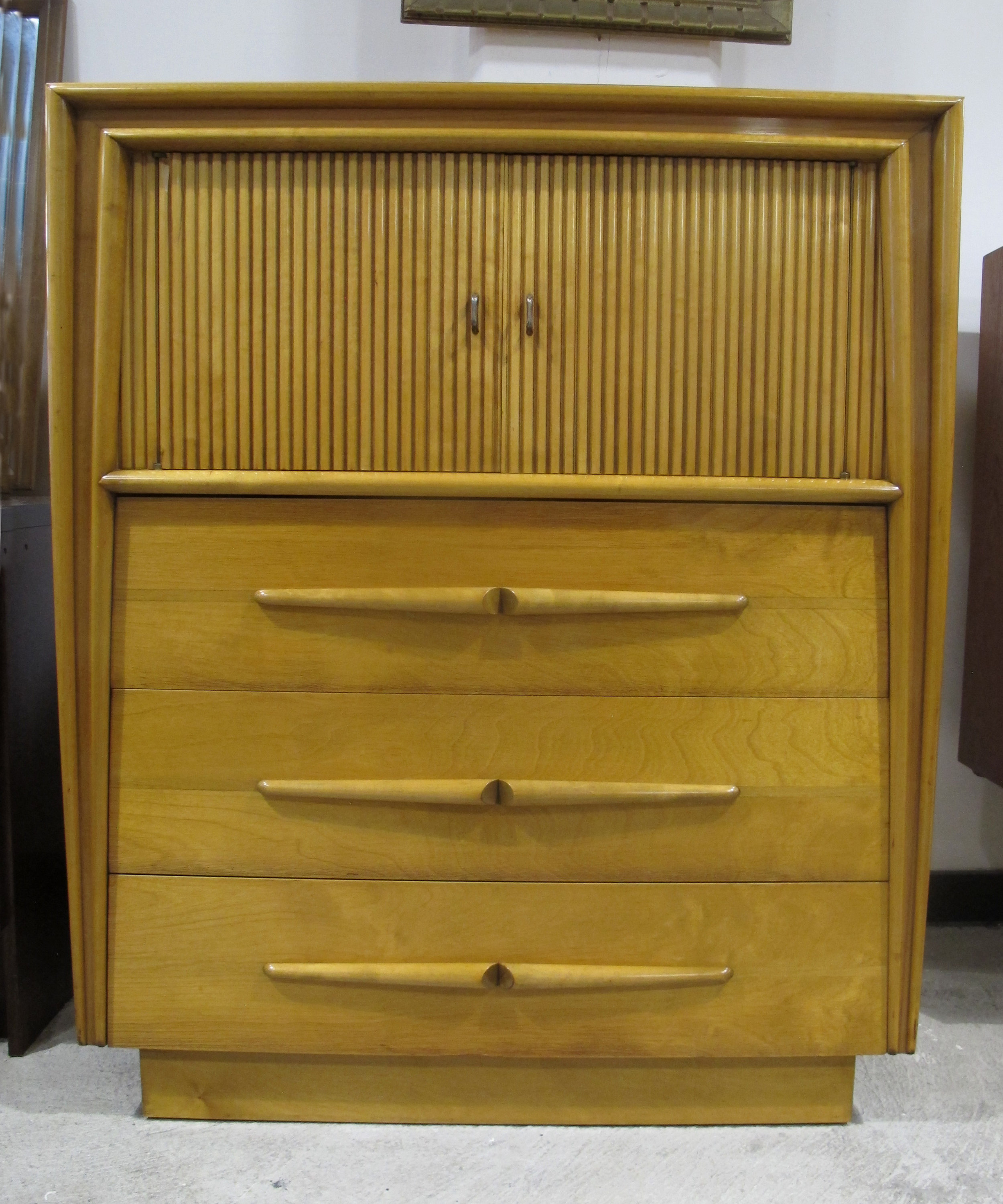 MID CENTURY MAPLE TALL DRESSER BY EDMOND SPENCE