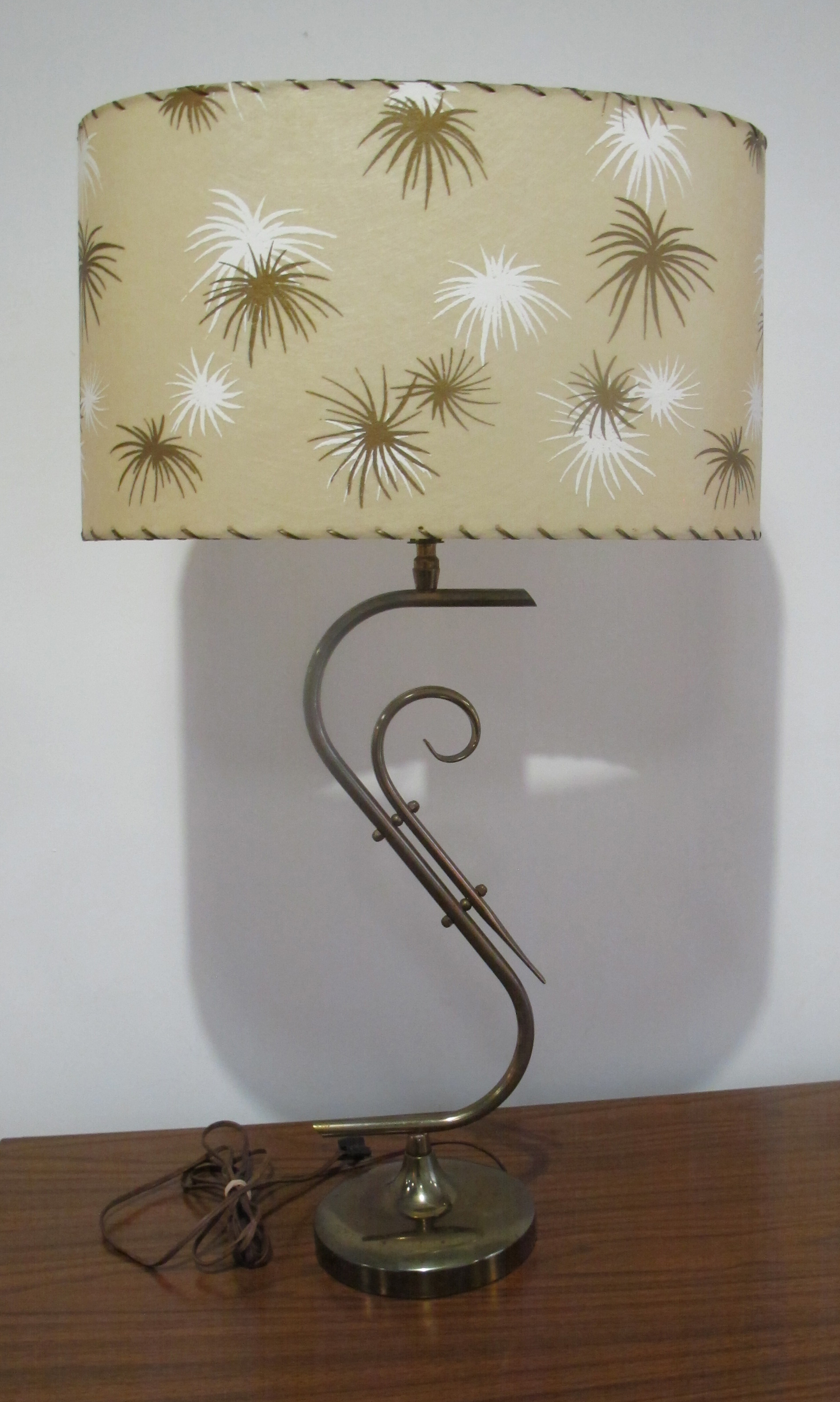 MID CENTURY ATOMIC BRASS LAMP
