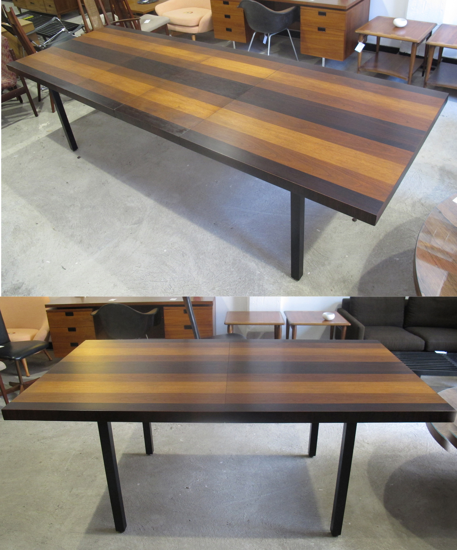 MILO BAUGHMAN MIXED WOOD DINING TABLE BY DIRECTIONAL