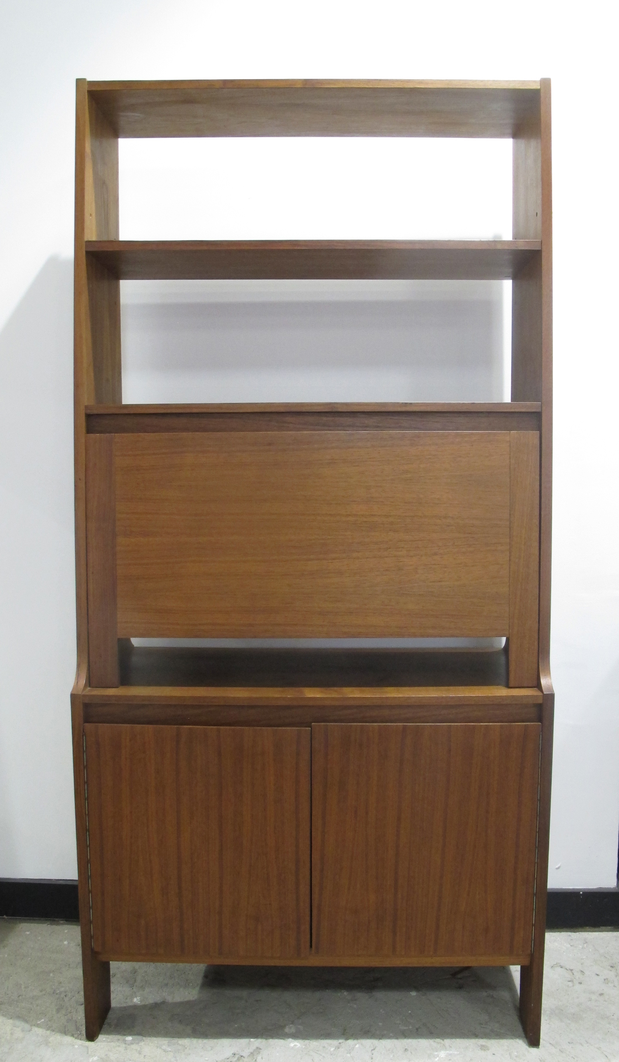 DANISH MODERN WALNUT BOOKCASE & SECRETARY DESK