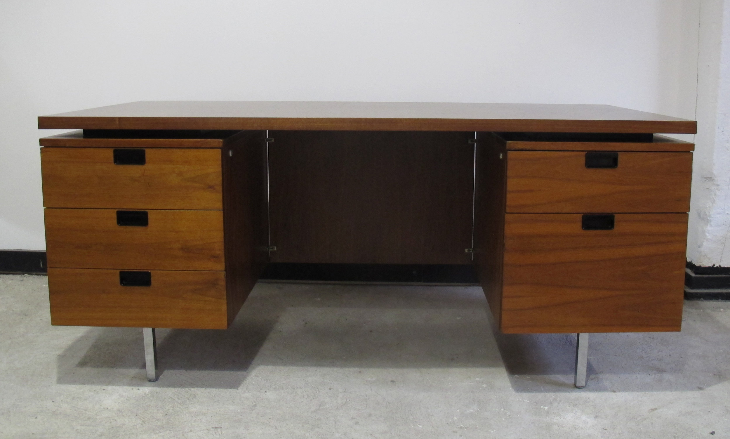 GEORGE NELSON DOUBLE PEDESTAL EXECUTIVE DESK BY HERMAN MILLER