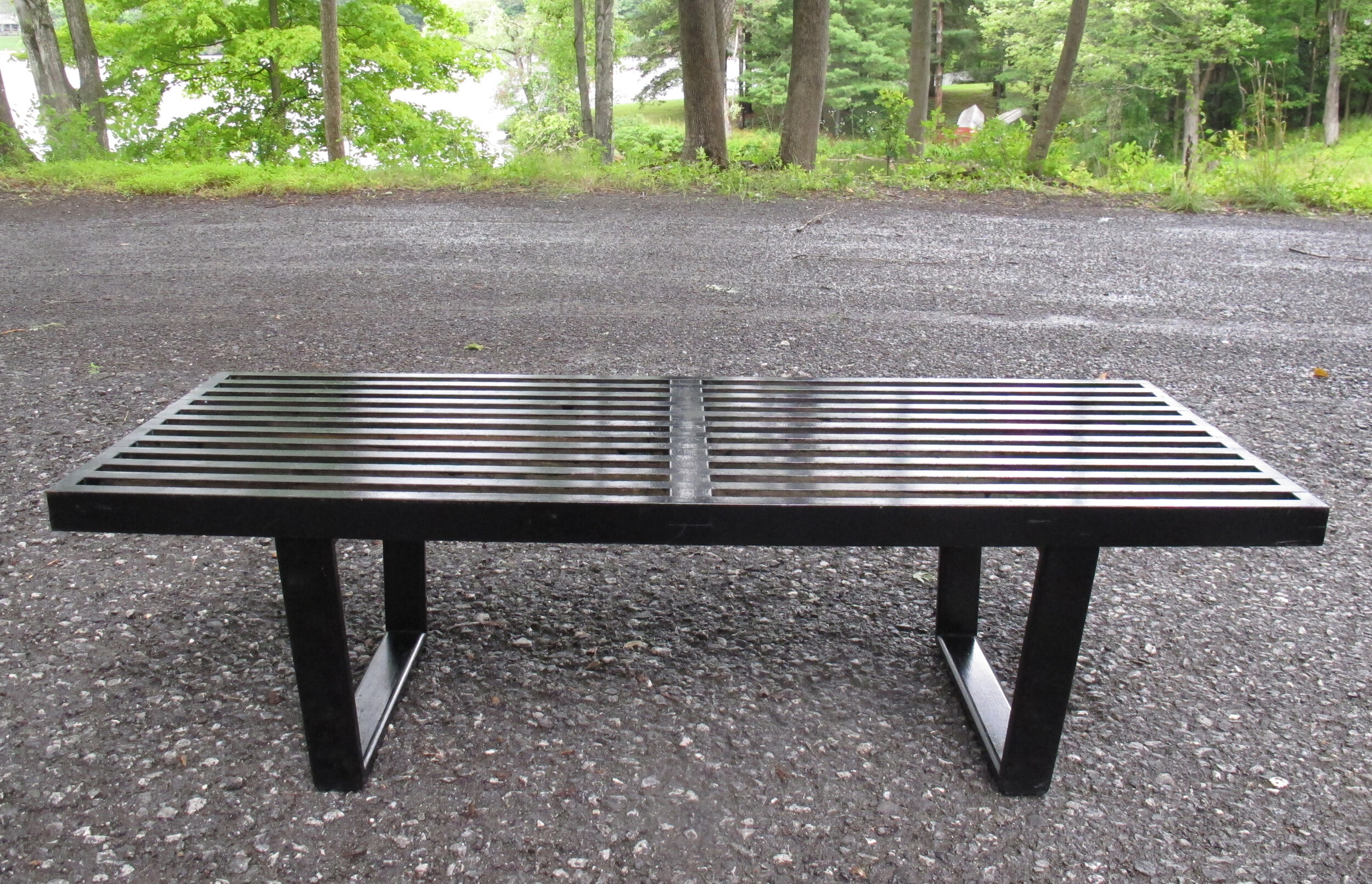 1949 GEORGE NELSON HERMAN MILLER SLAT BENCH COFFEE TABLE MODEL 4690
