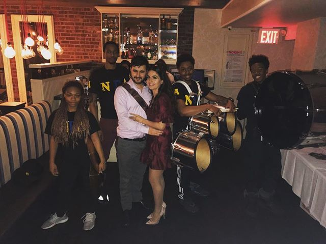 THANK YOU @m_a_lissa for inviting @newgenesisdrumline to perform for you and your fiancé!!!! #BrooklynExpress #TheUltimateEntertainment