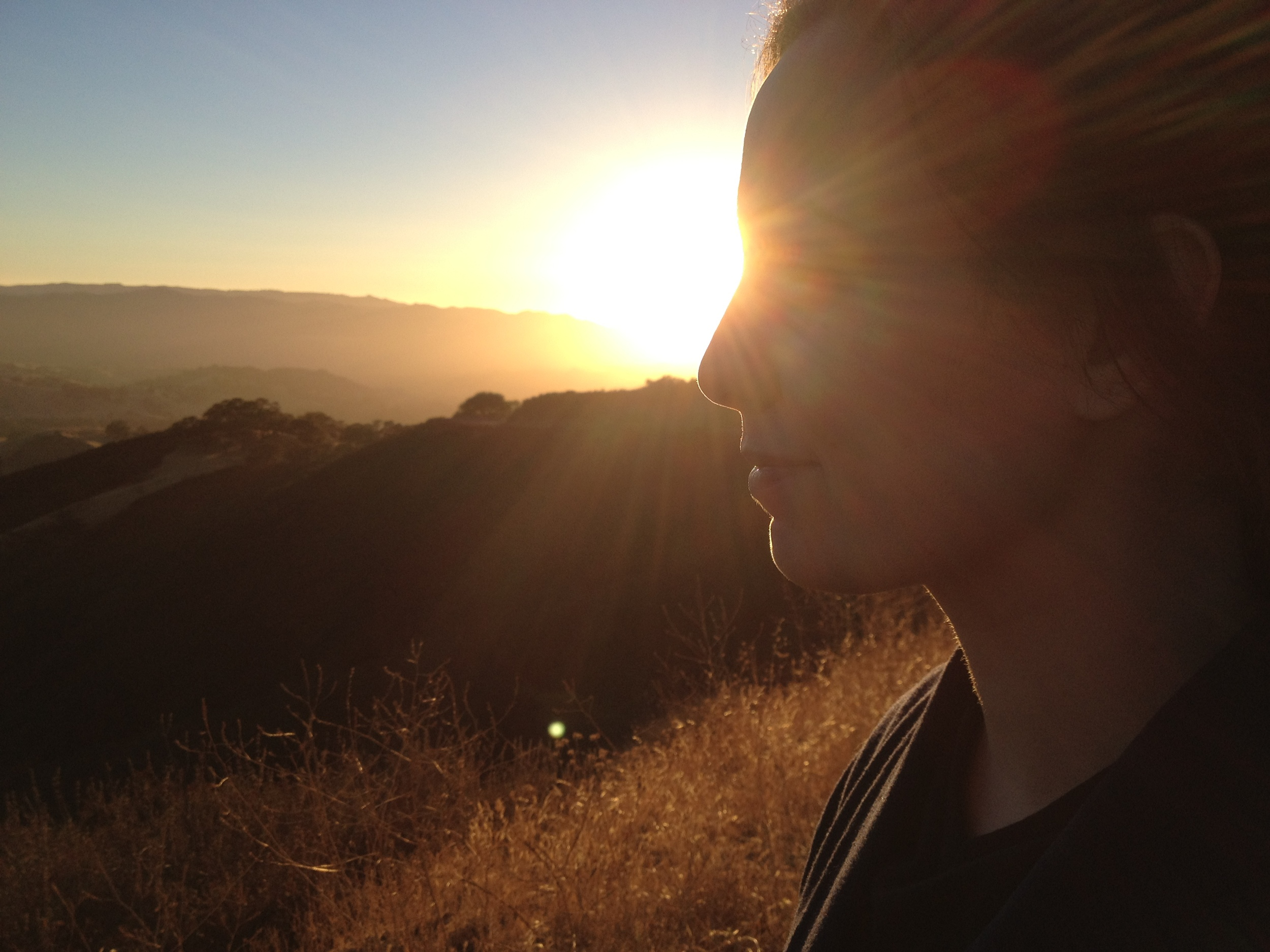 My wife Shawna looking enlightened during one of our hikes. And she is btw.