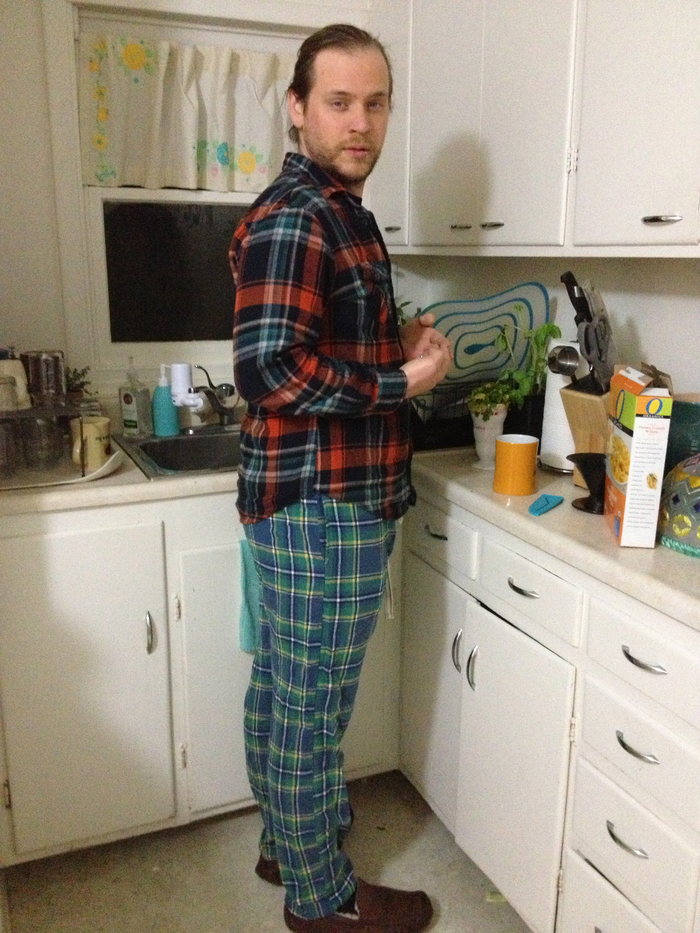 My sweet new jammie-jams on Christmas Eve night 2012