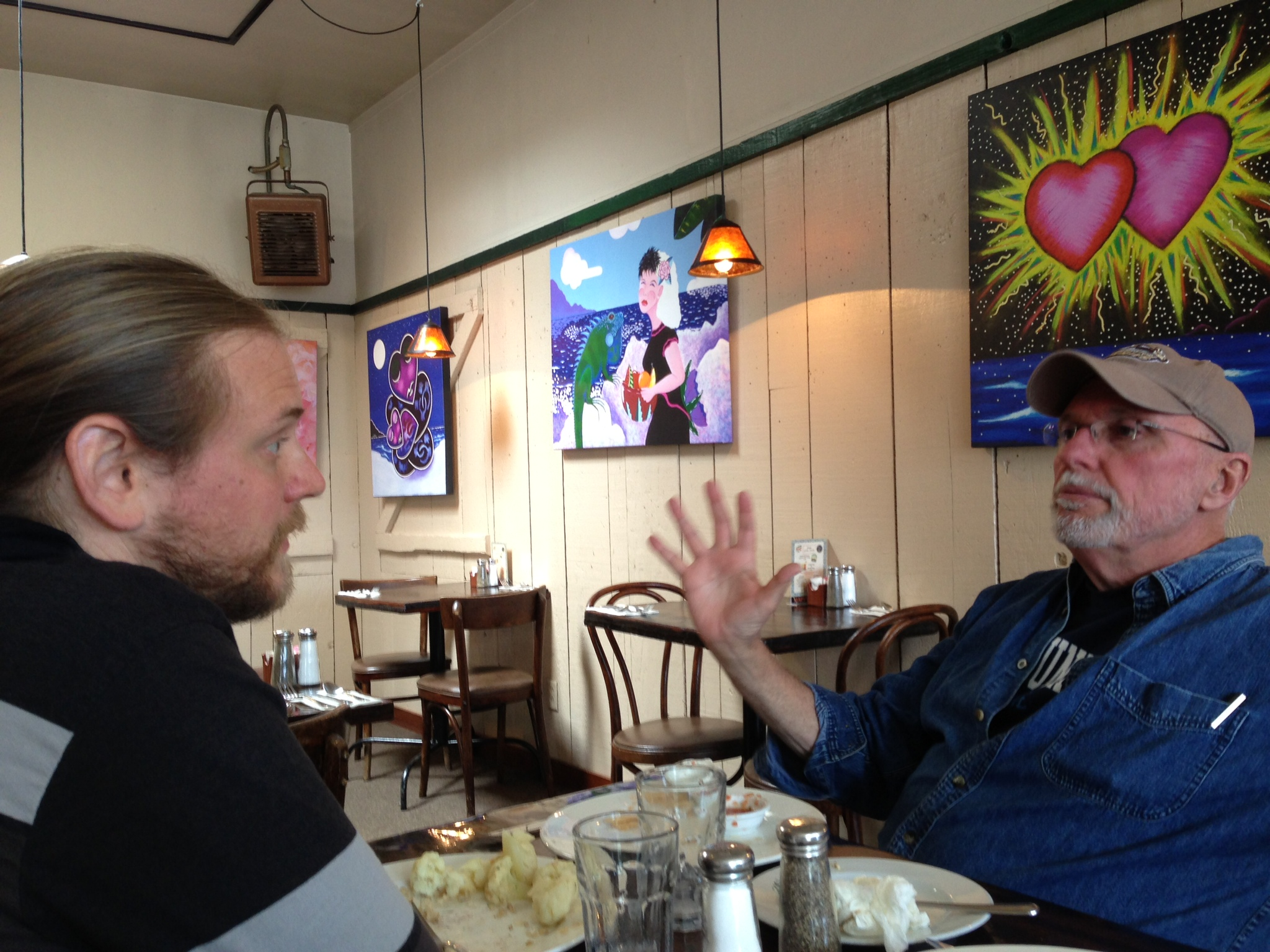 Brother Dan and I having lunch in Pacific Grove, CA (photo credit goes to a sneaky Shawna Pinkston)