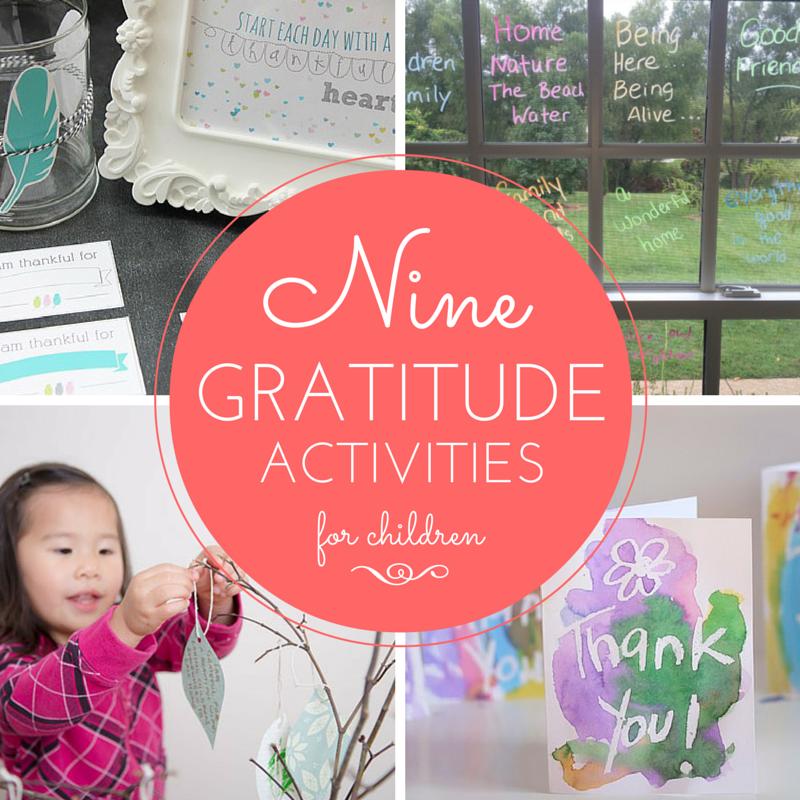 Nine Gratitude Activities for Children