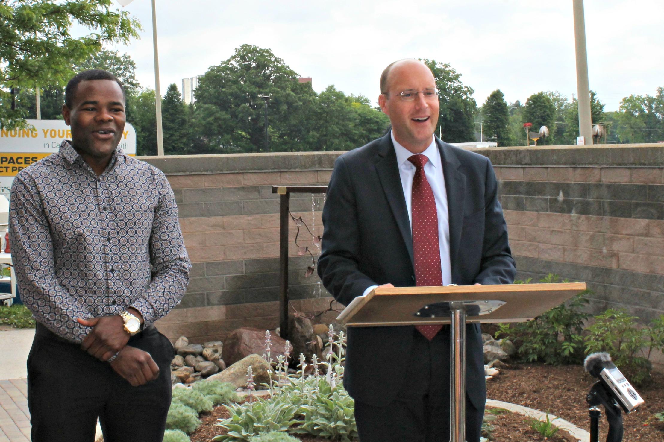 City of London Mayor Matt Brown (Right) with City Councillor Mo Salih (Left)