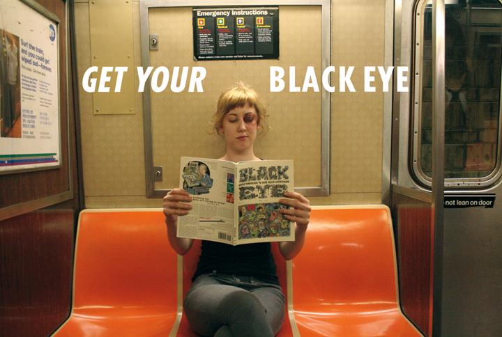 GET YOUR BLACK EYE Postcard 1
