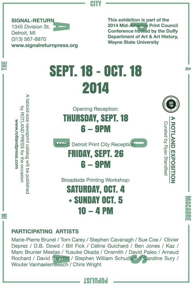 CHASING POSADA! (Detroit) exhibition announcement