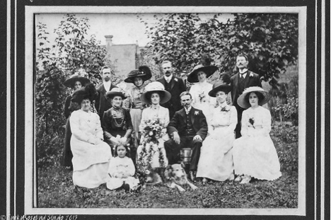 My grandparents' wedding summer 1911 with everyone apart from Grandpa looking rather grim!