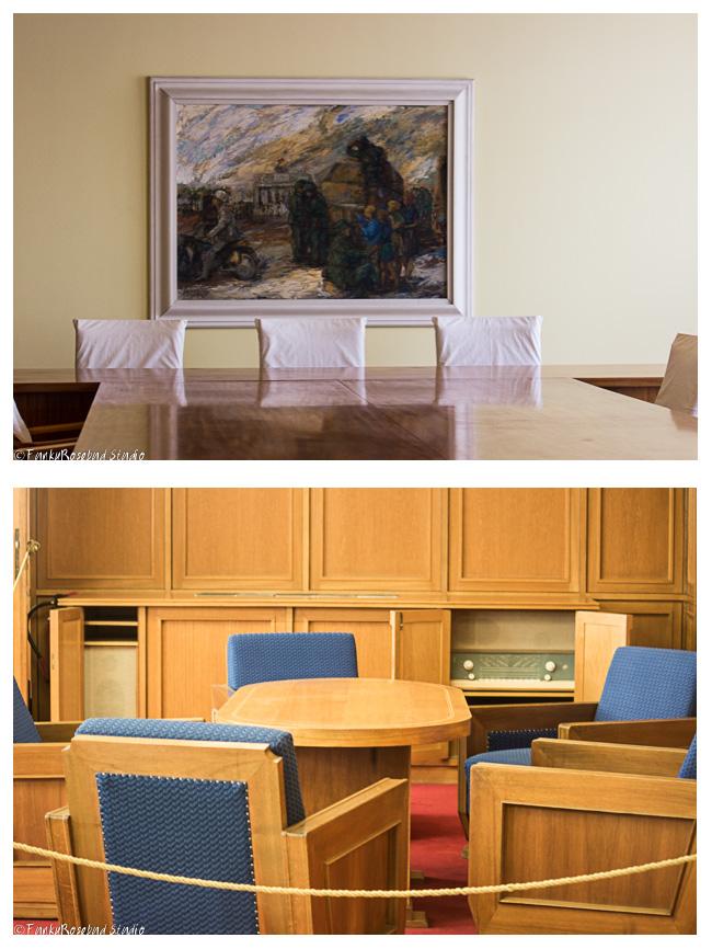 Top boardroom, bottom Mielke's office