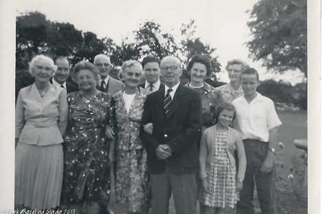 Aunt Rose front left