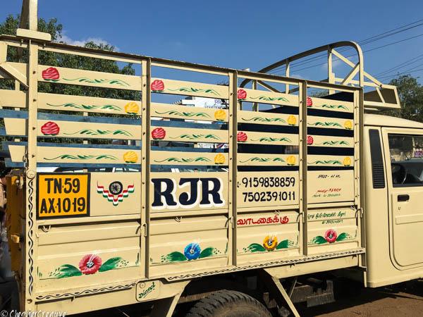 Van parked up in Madurai