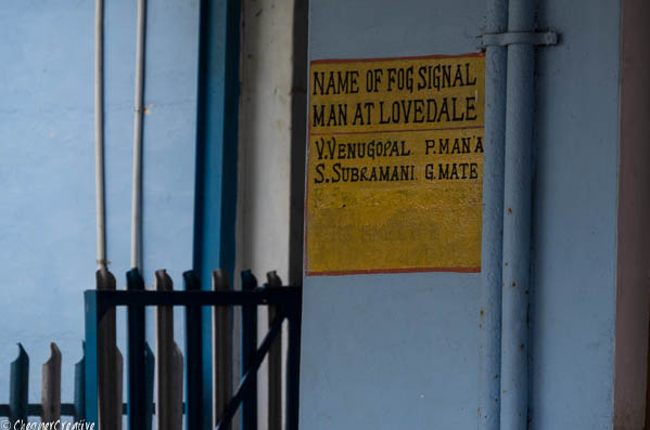 Notice seen on station while riding the 'Toy Train' from Ooty to Coonoor