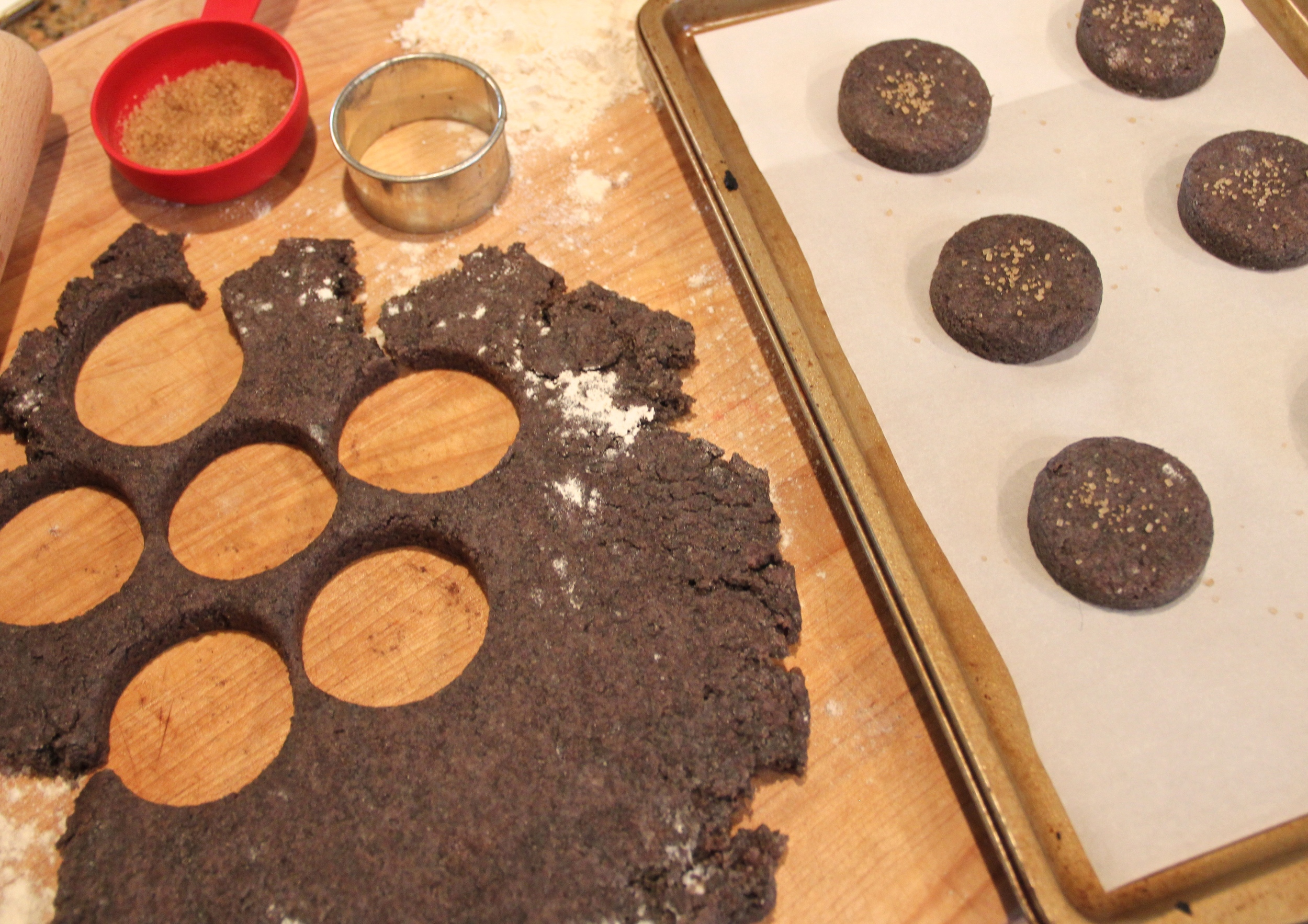 this dough gets pretty dark once you add liquid to it...but don't worry, they still taste amazing!