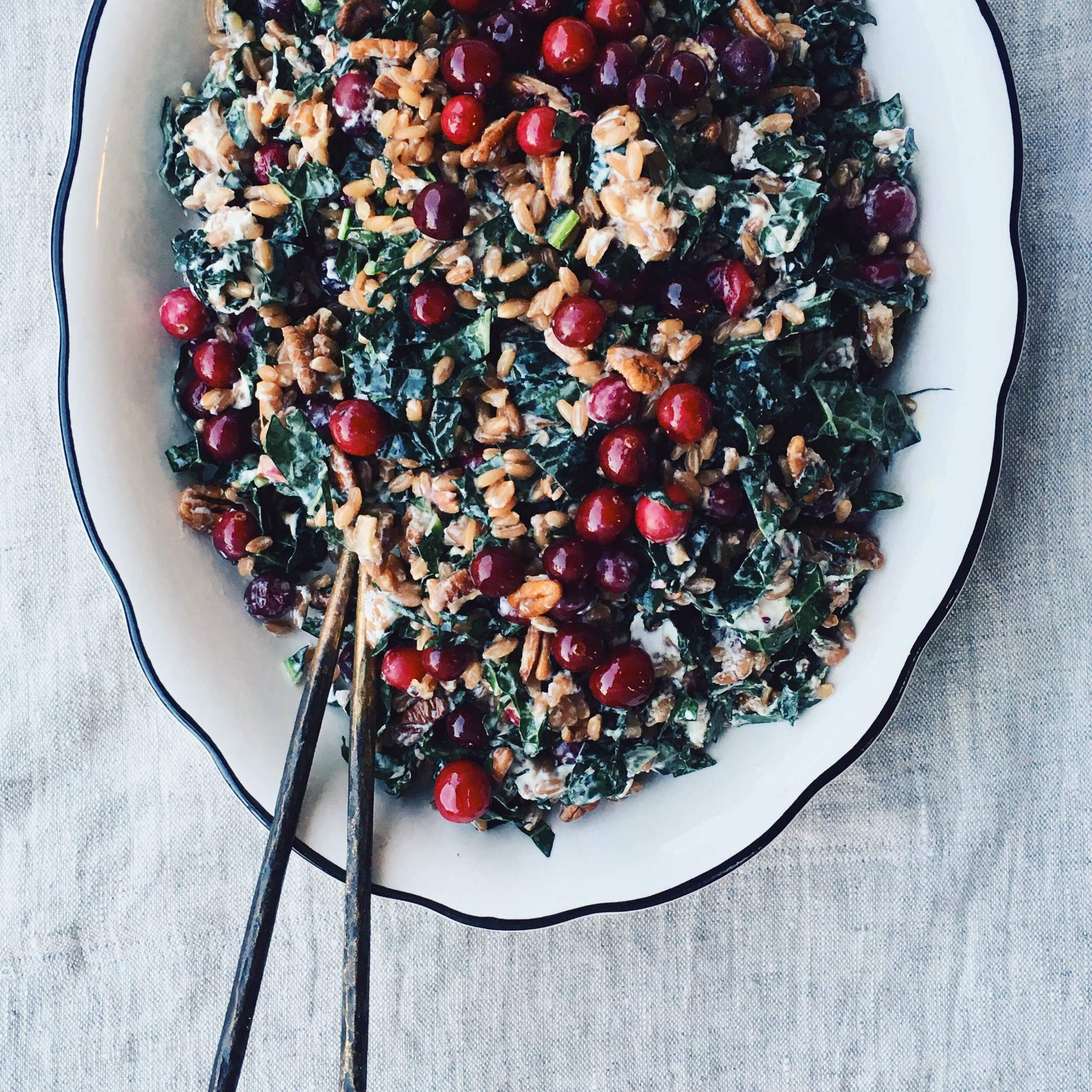 Pickled Cranberry Farro Salad