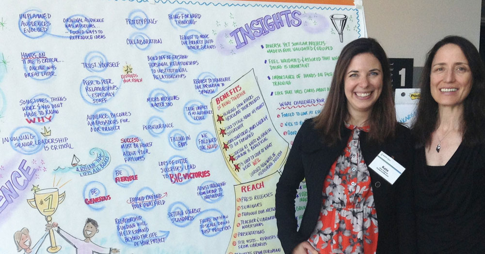 Facilitator Kate Tinworth with graphic recorder Alece Birnbach.