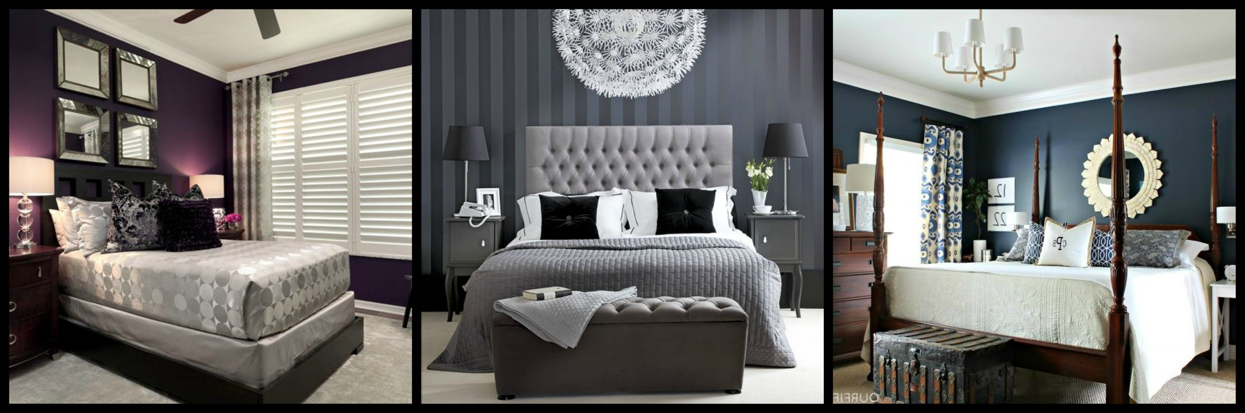 Dark wall colors add drama, calm, and tranquility to lull your conscious mind to prepare for slumber.