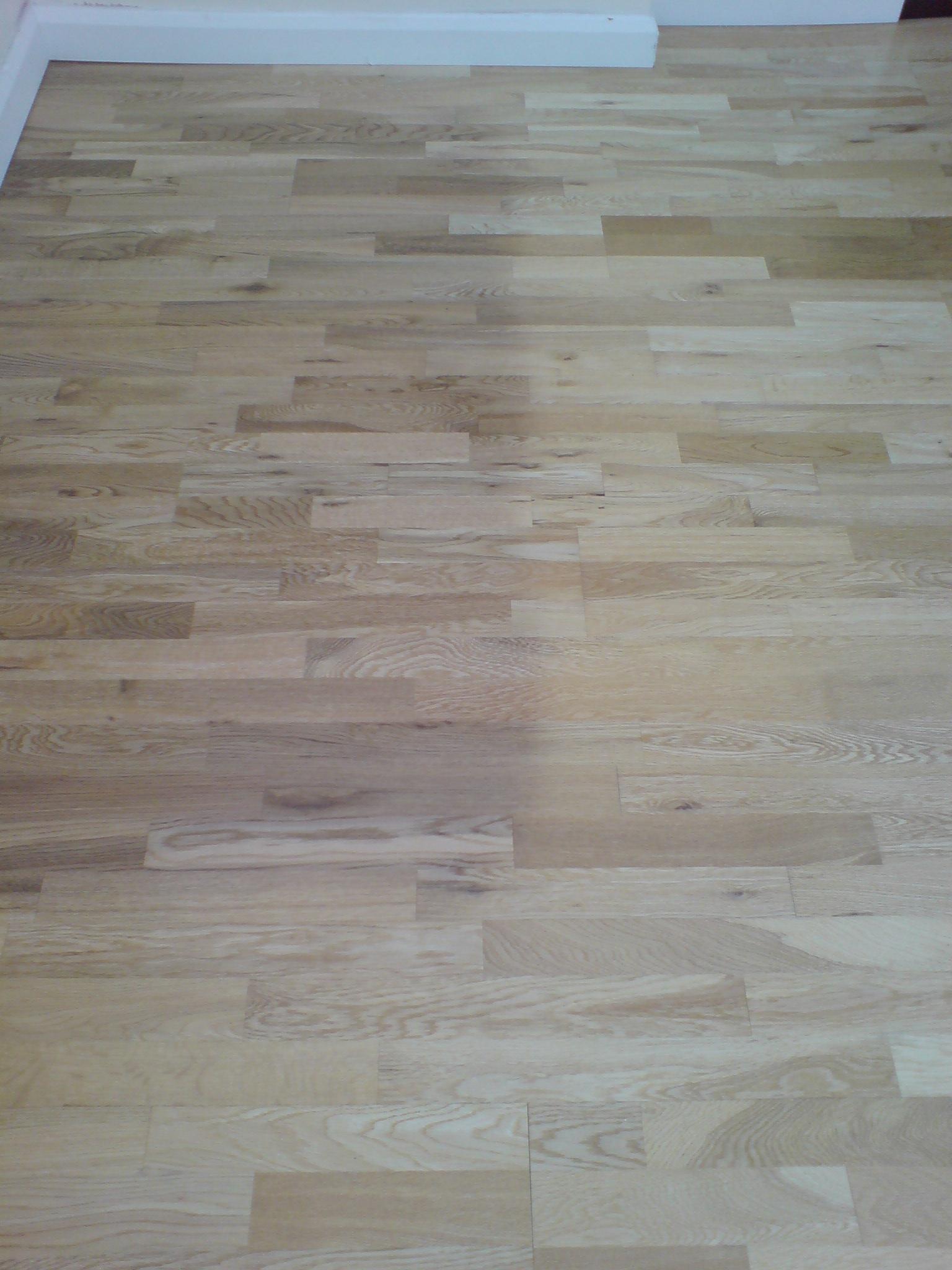 Faded floor from UV light