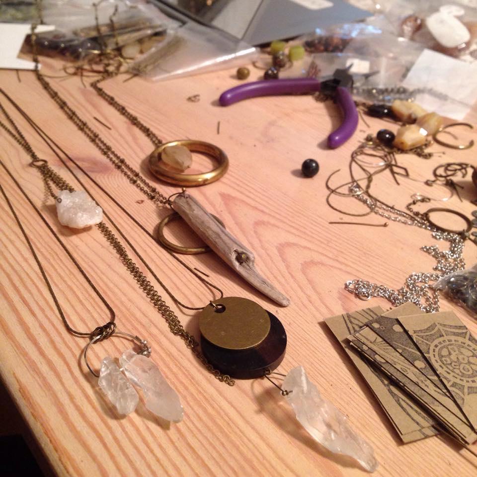 Necklaces in progress